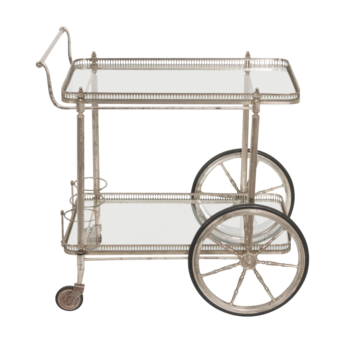 Bar Carts Antique Bar Cart With Wheels