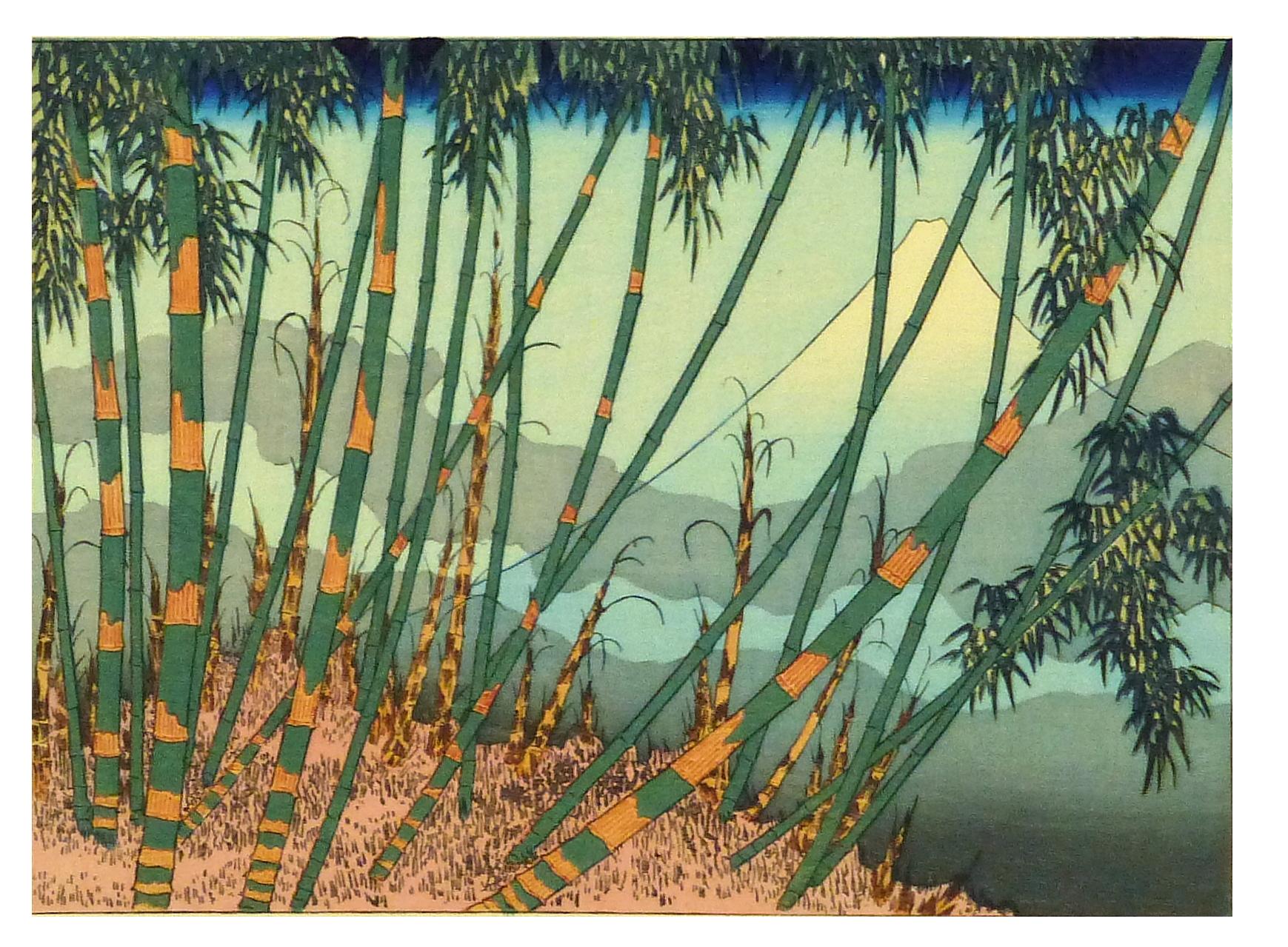 Vintage 1930 Japanese Bamboo Woodblock Print Chairish