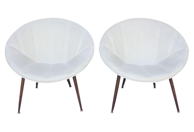 Swell Douglas Eaton Mcm Saucer Chairs A Pair Pabps2019 Chair Design Images Pabps2019Com