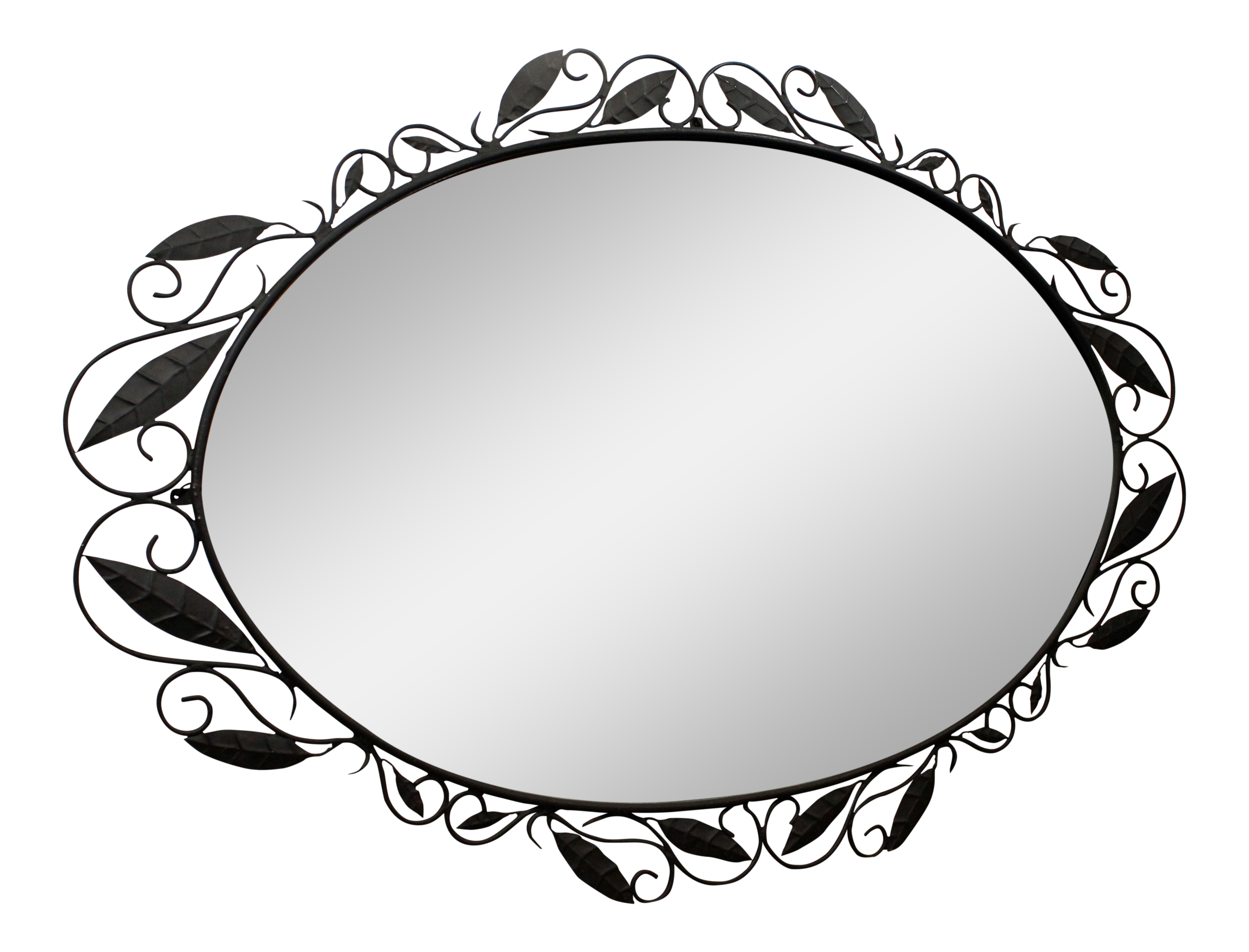 Oval Foyer Mirror : Large quot oval oversized italian designer wrought iron