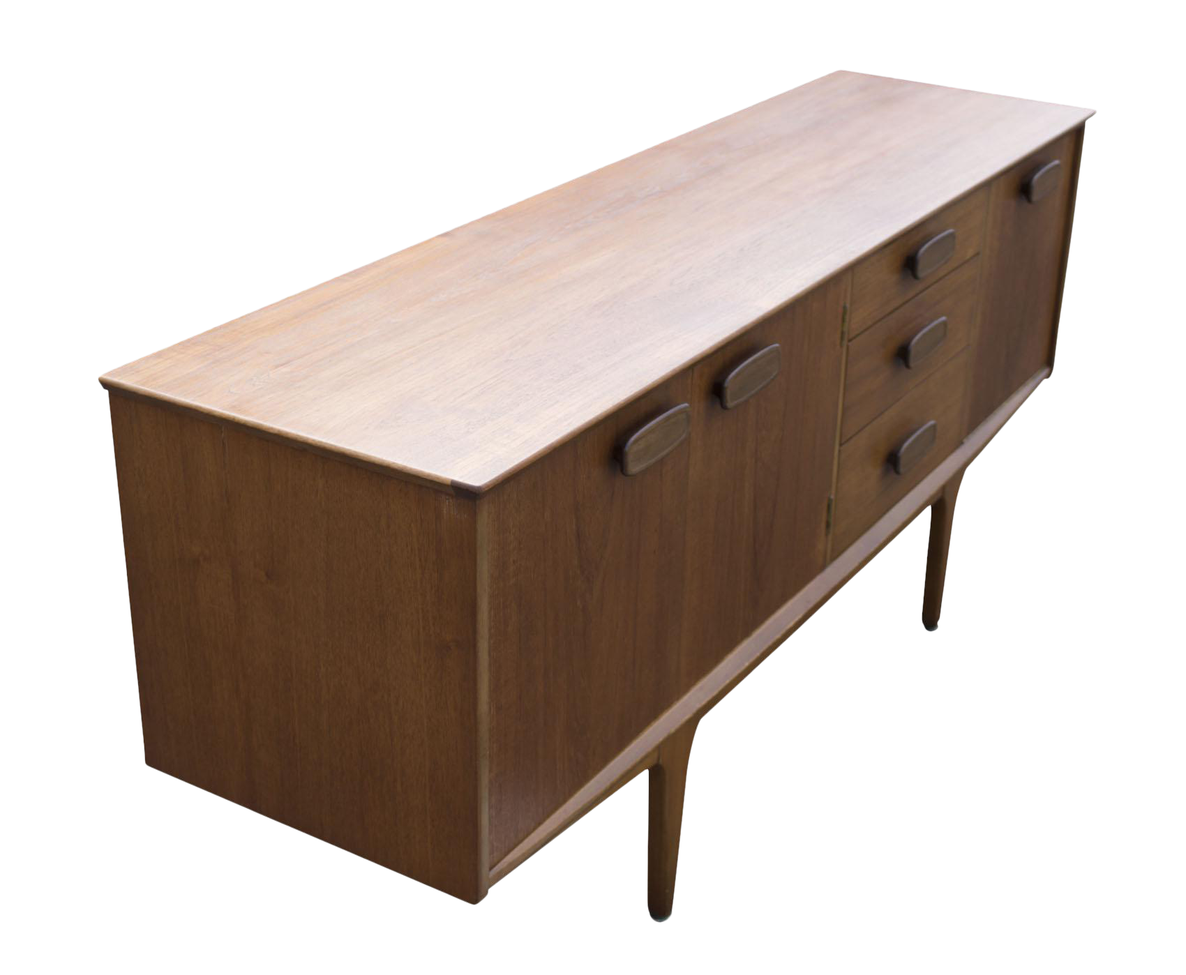 Danish Modern Buffet Credenza : Mid century danish teak wooden sideboard by h p hansen room of art