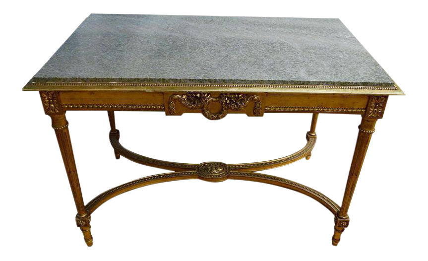 19th century french center table chairish for Table th center