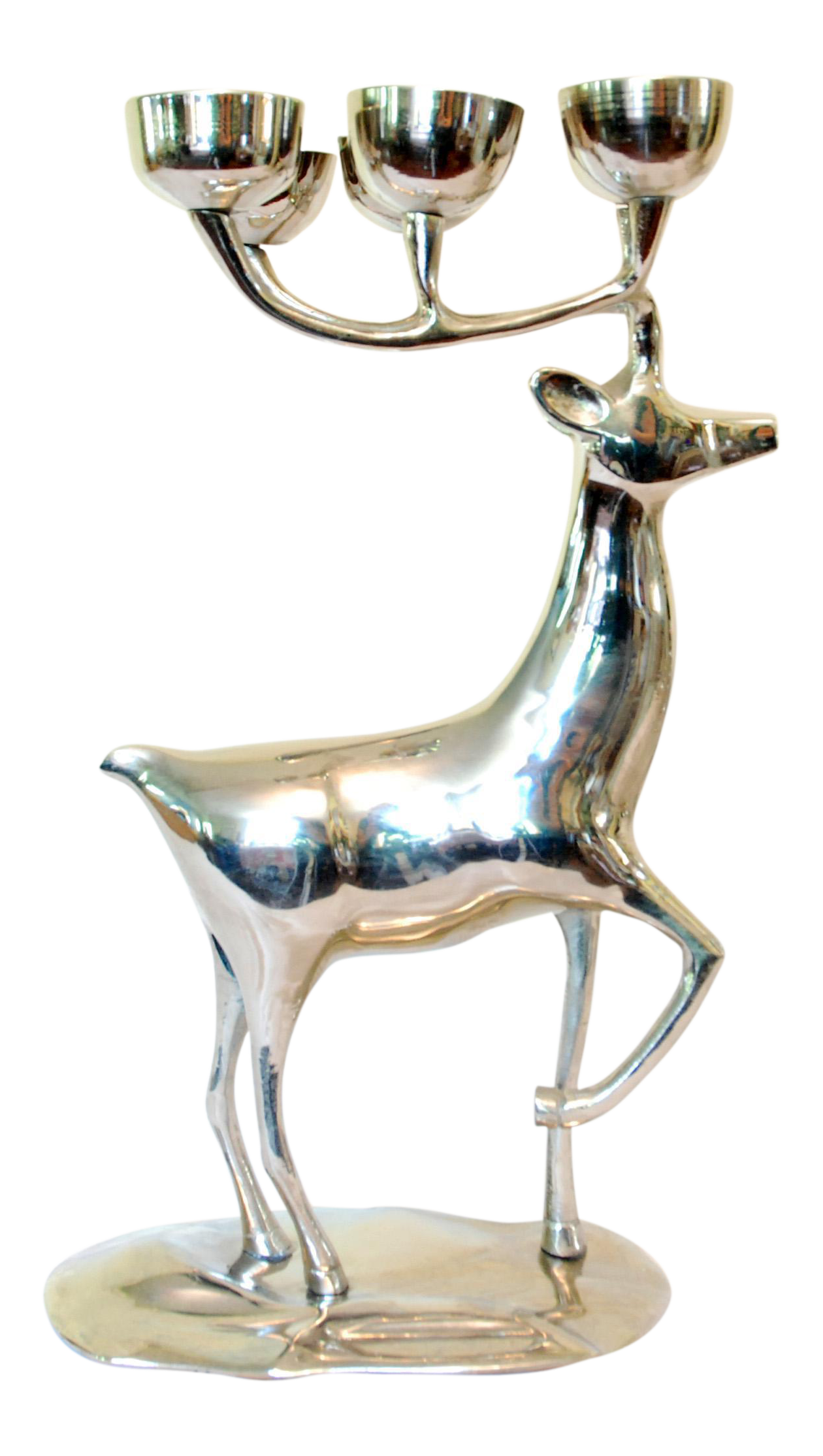 godinger silver plated reindeer candle holder chairish With kitchen cabinet trends 2018 combined with reindeer candle holders