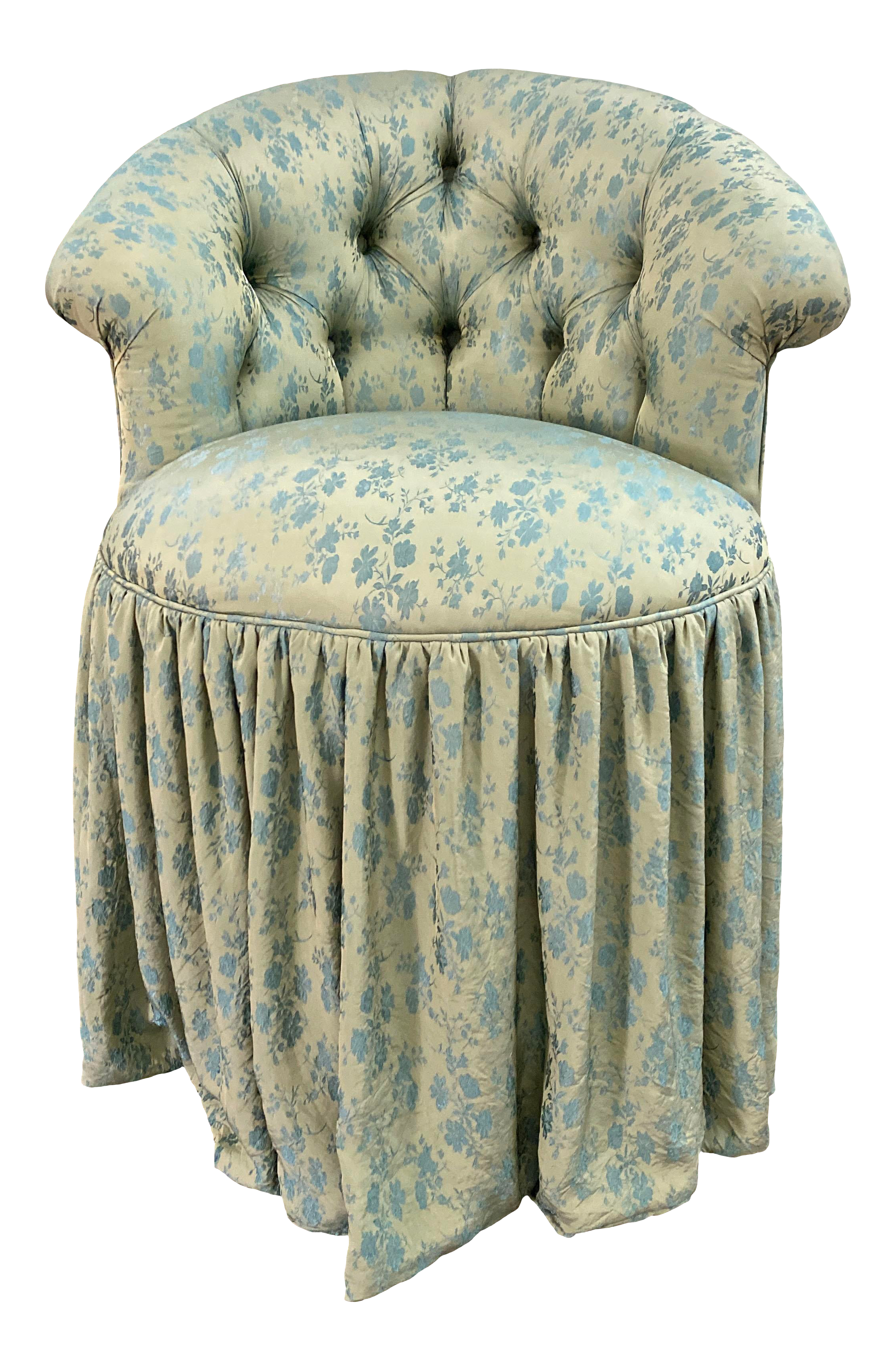 Bella Notte Fabric Upholstered Swivel Vanity Chair Chairish