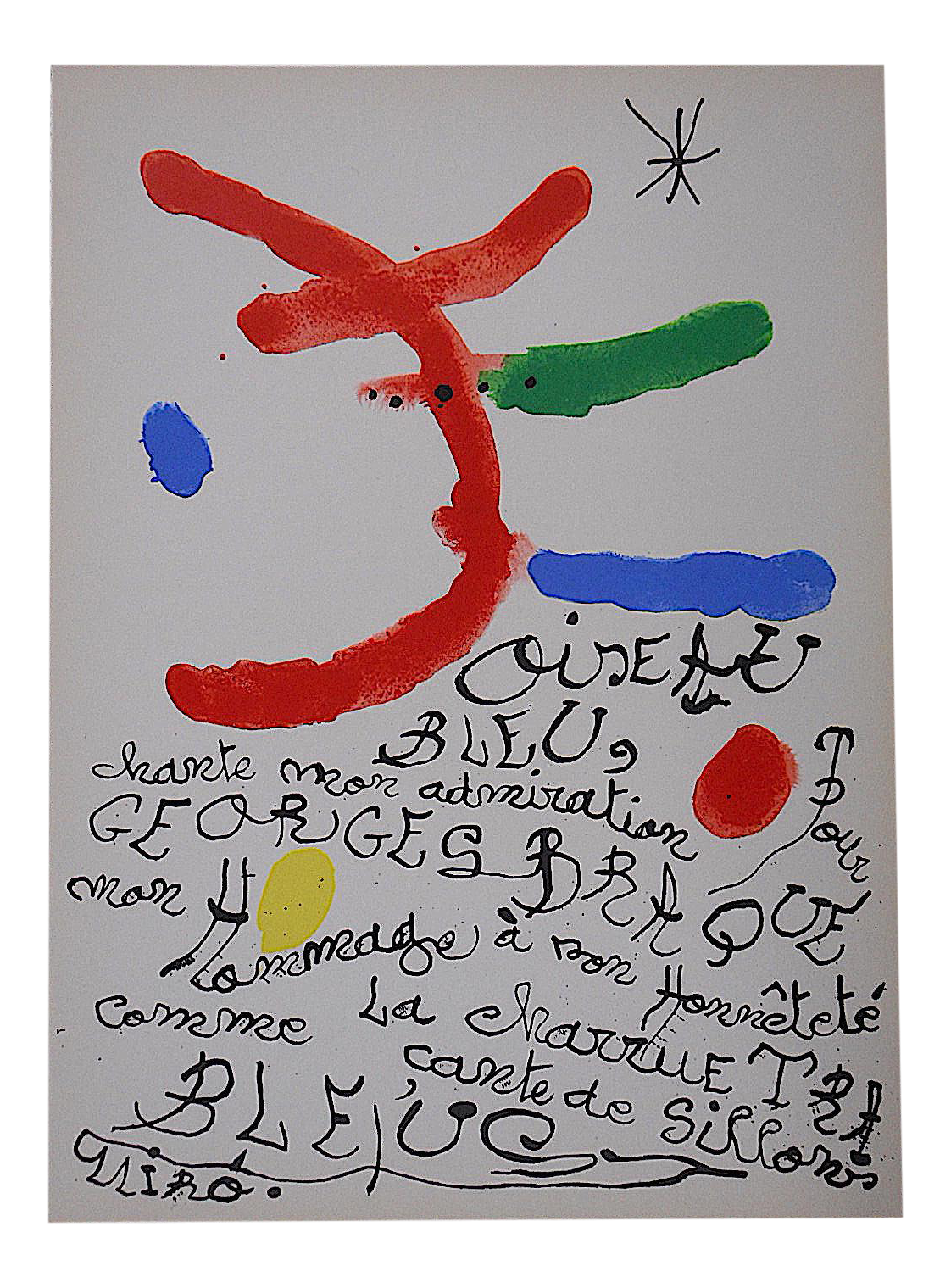 1964 vintage miro lithograph for derriere le miroir chairish for Miro derriere le miroir