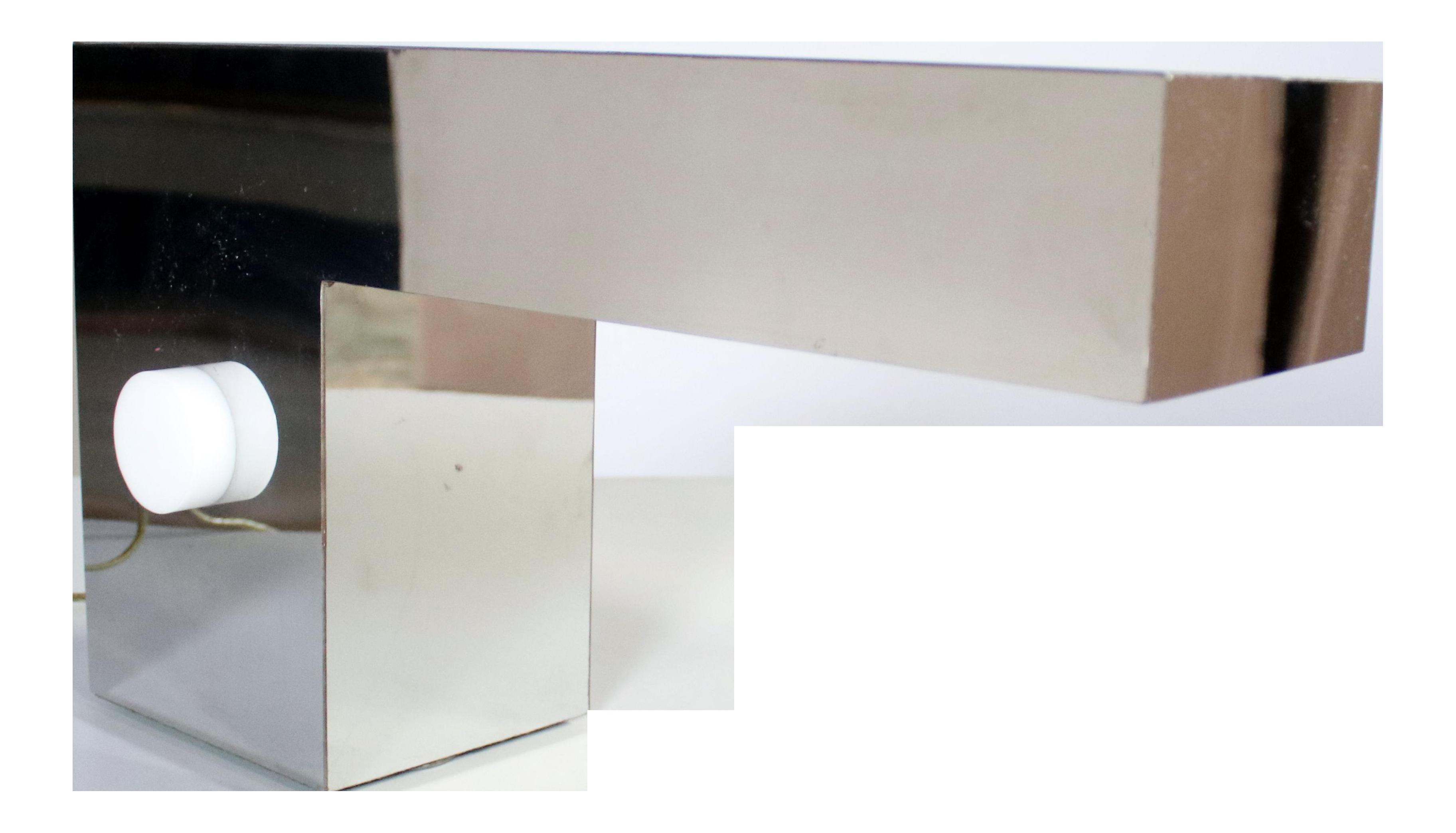 chrome table pagazzi unlit polished tinto lamps lighting lamp