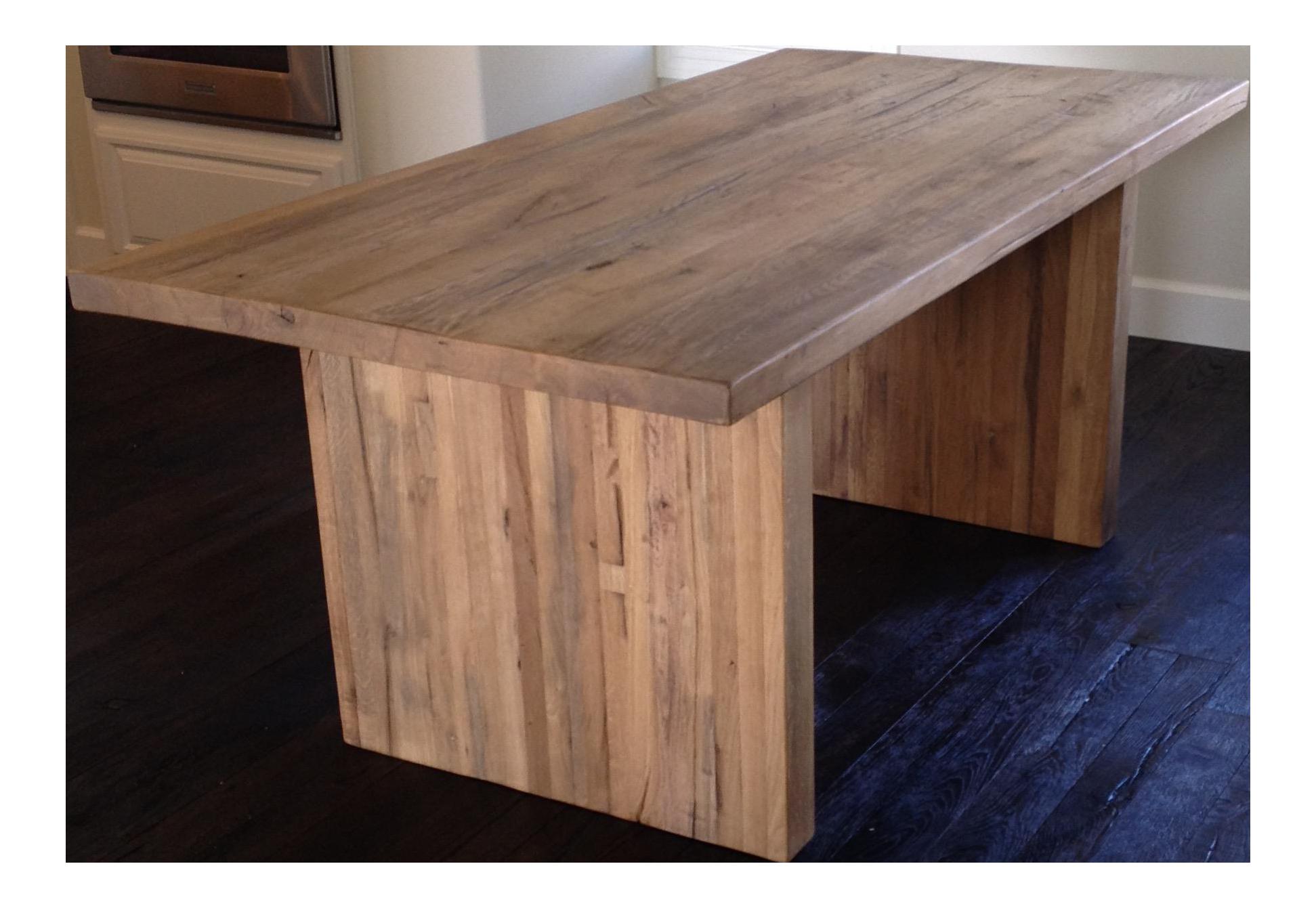 RH Reclaimed Russian Oak Plank Rectangular Dining Table