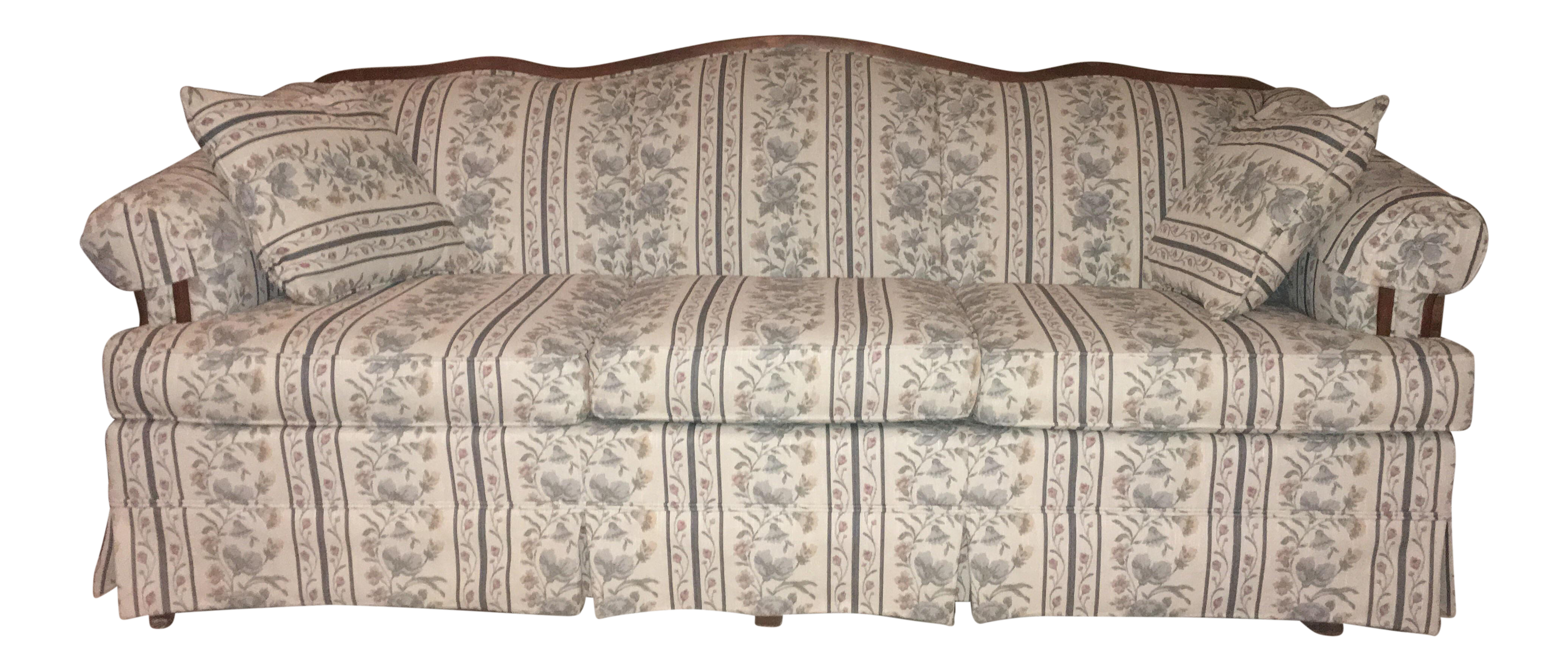consignment furniture sofa delmarva products large striped medium floral broyhill img couch
