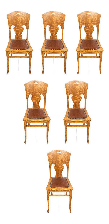 Tiger Oak Kitchen Chairs