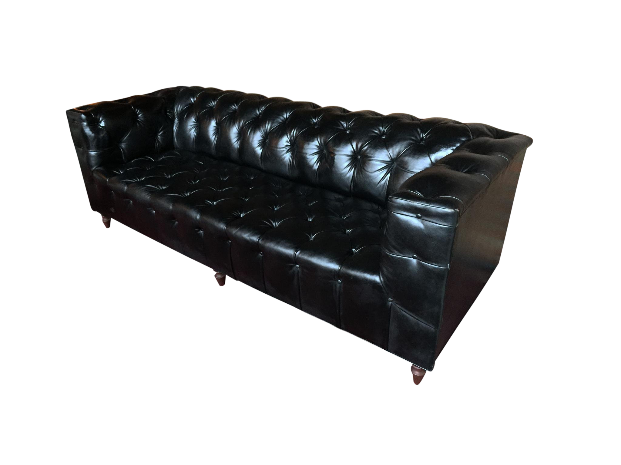 1960s Leather Chesterfield Sofa in the Style of Edward Wormley ...