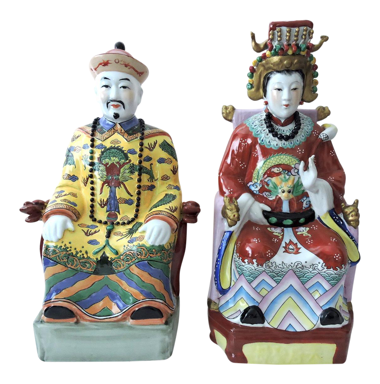 Vintage chinese emperor empress seated figures pair chairish reviewsmspy