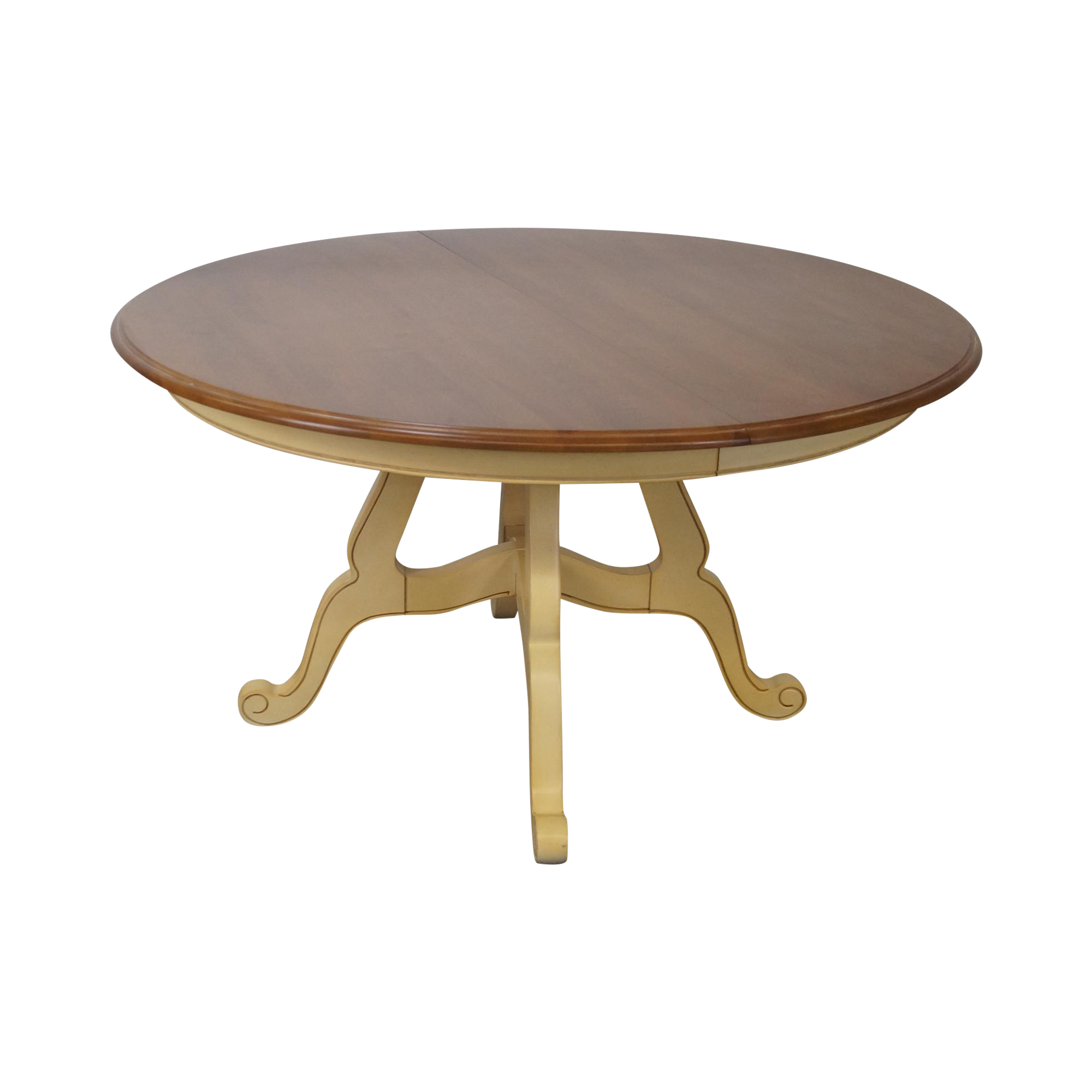 Ethan Allen New Country Coffee Table: Ethan Allen Country French Round Dining Table