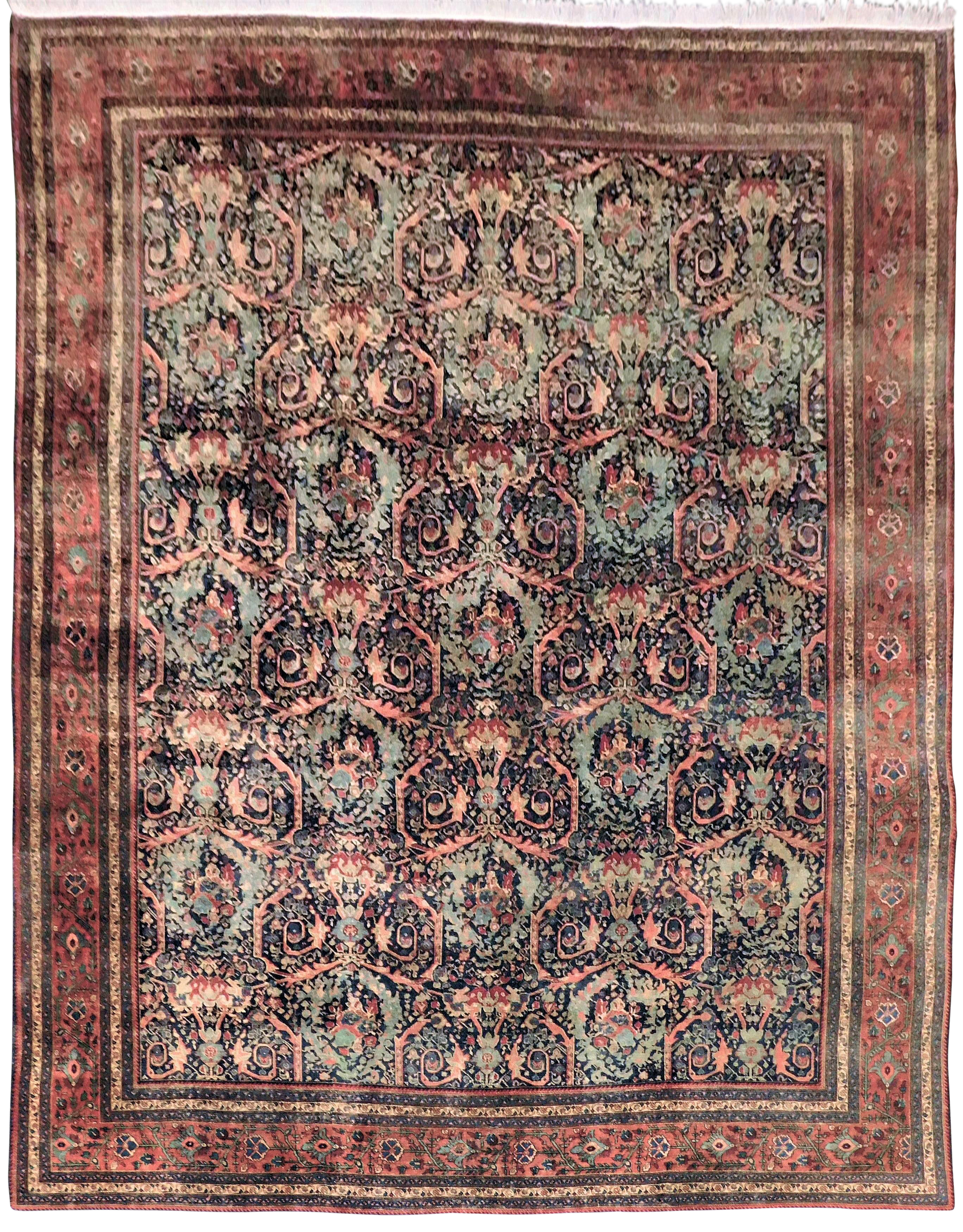 1920s Vintage Hand Knotted Persian Rug 11 14