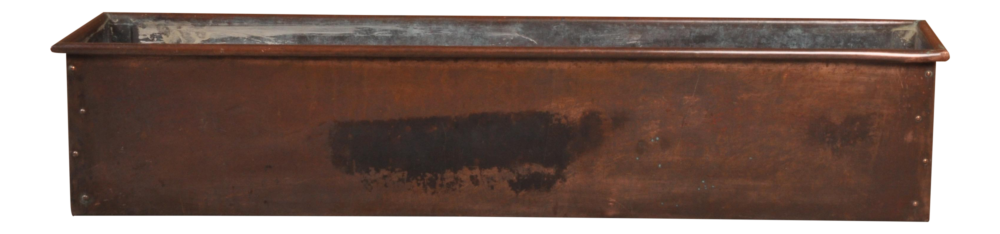 Mid 20th Century Copper Window Box Planter Chairish