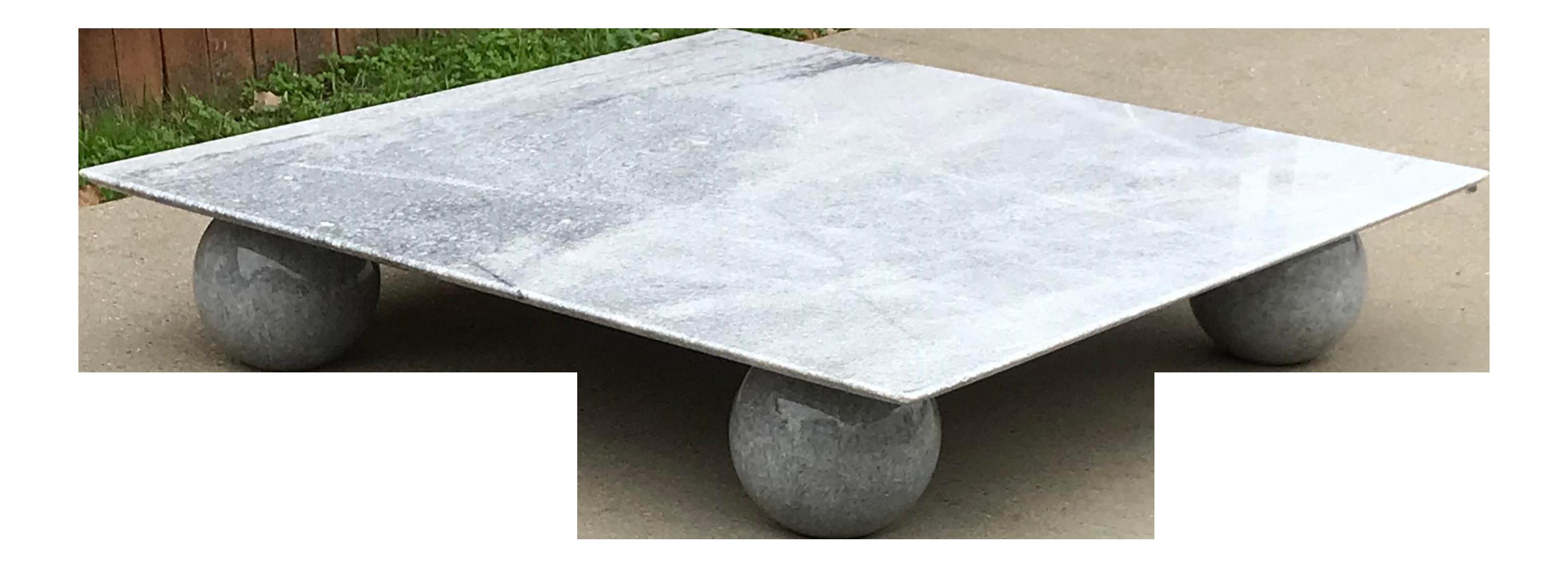 - Italian Square Low Profile Marble Coffee Table Chairish