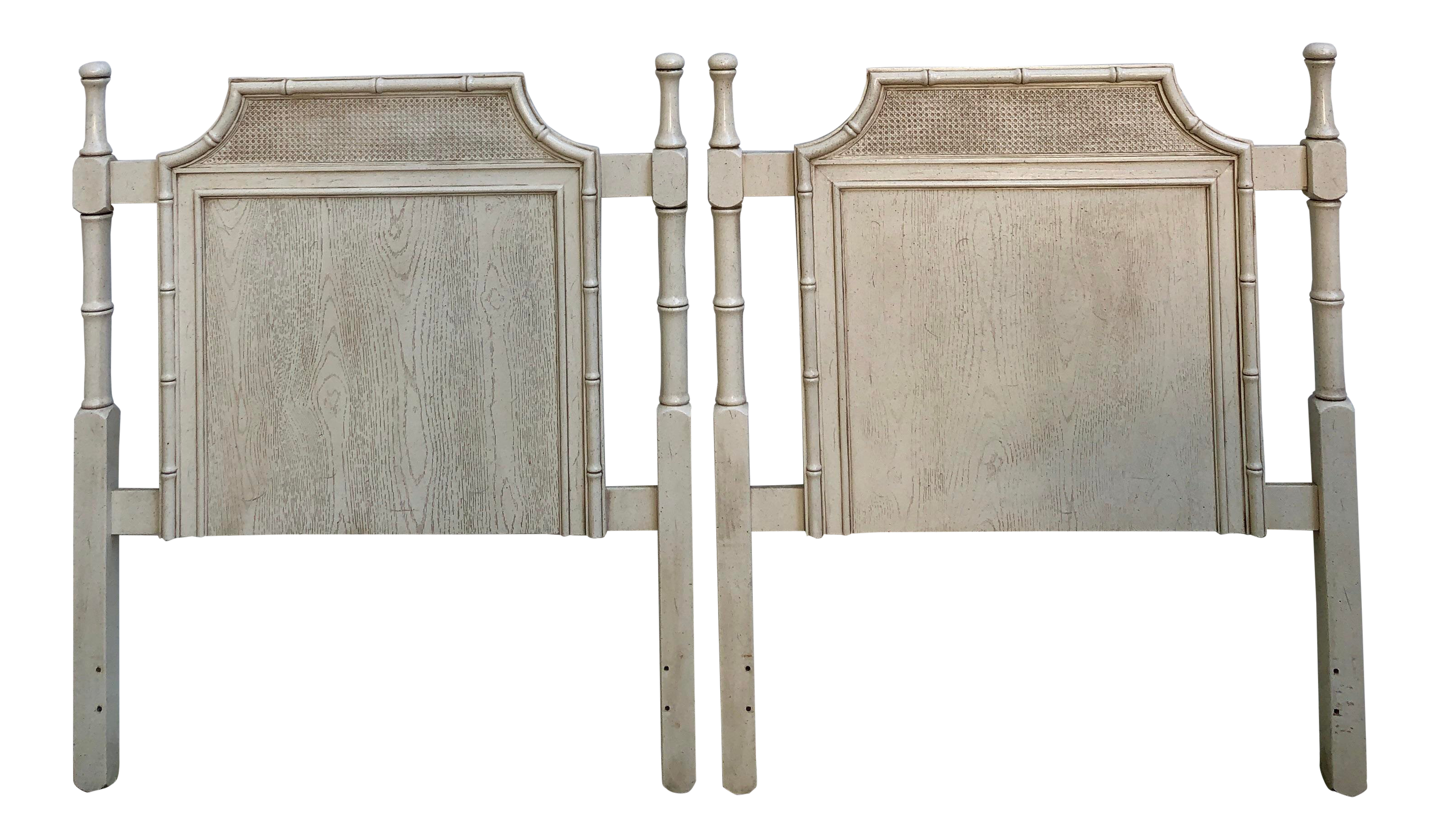 Vintage Mid Century Chinoiserie Faux Bois and Bamboo Cane Pagoda