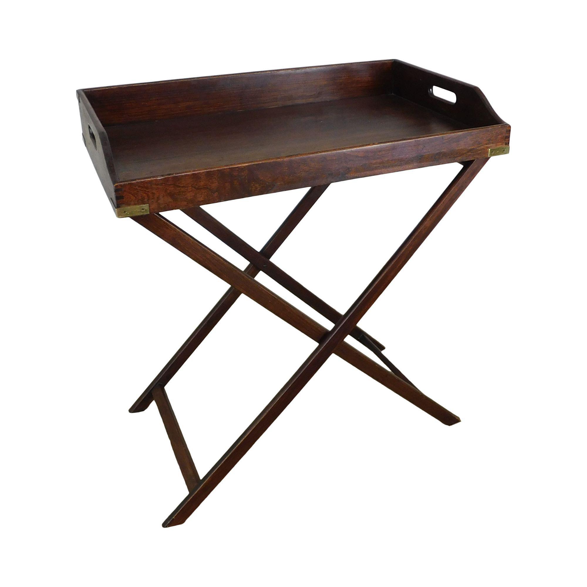 - Antique Mahogany Folding X Base Butlers Tray Table Chairish