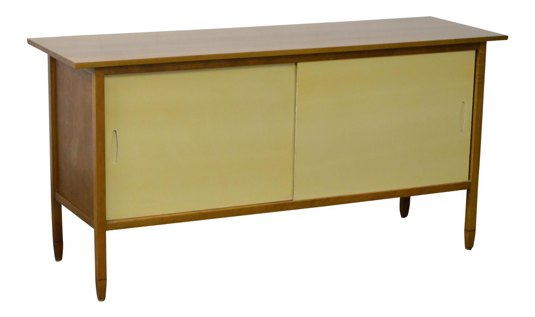 Mid Century Modern Sliding Door Credenza Sideboard Chairish