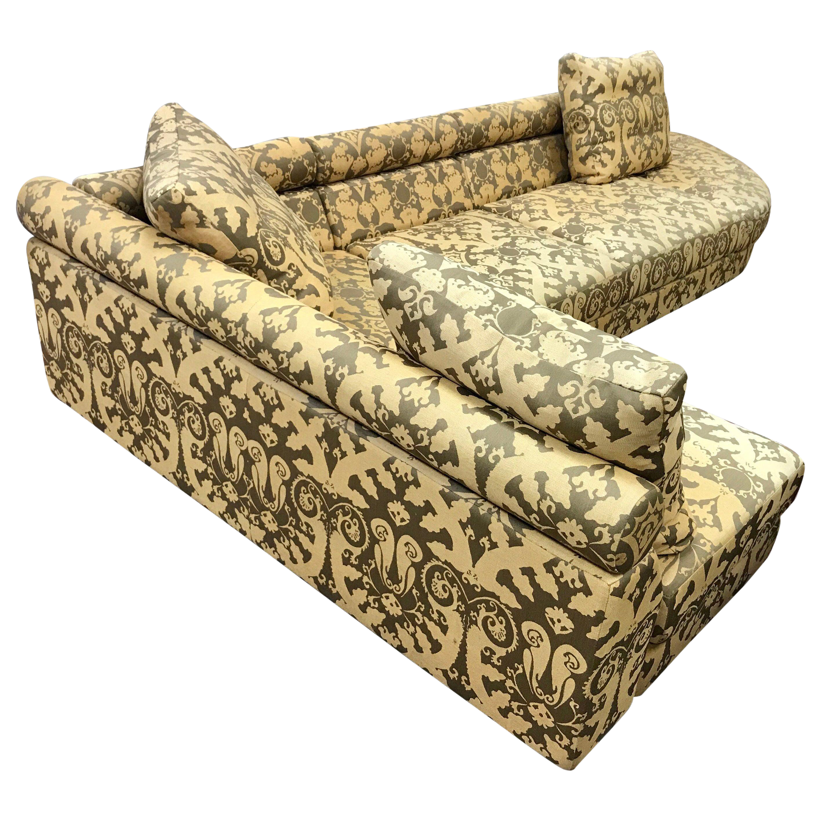 Remarkable Roche Bobois Architectural Modular Sofa Sectional 3 Piece Custom Kravet Fabric Ibusinesslaw Wood Chair Design Ideas Ibusinesslaworg