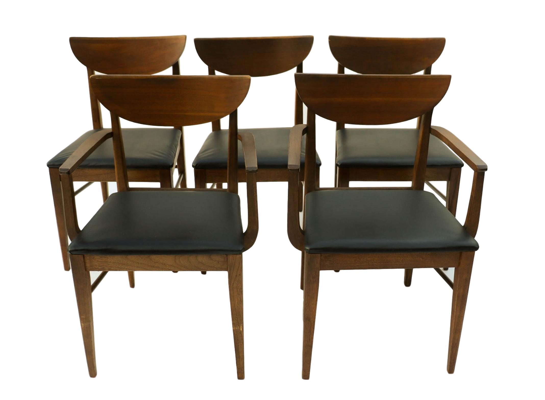 mid century modern bassett dining chairs s 5 chairish