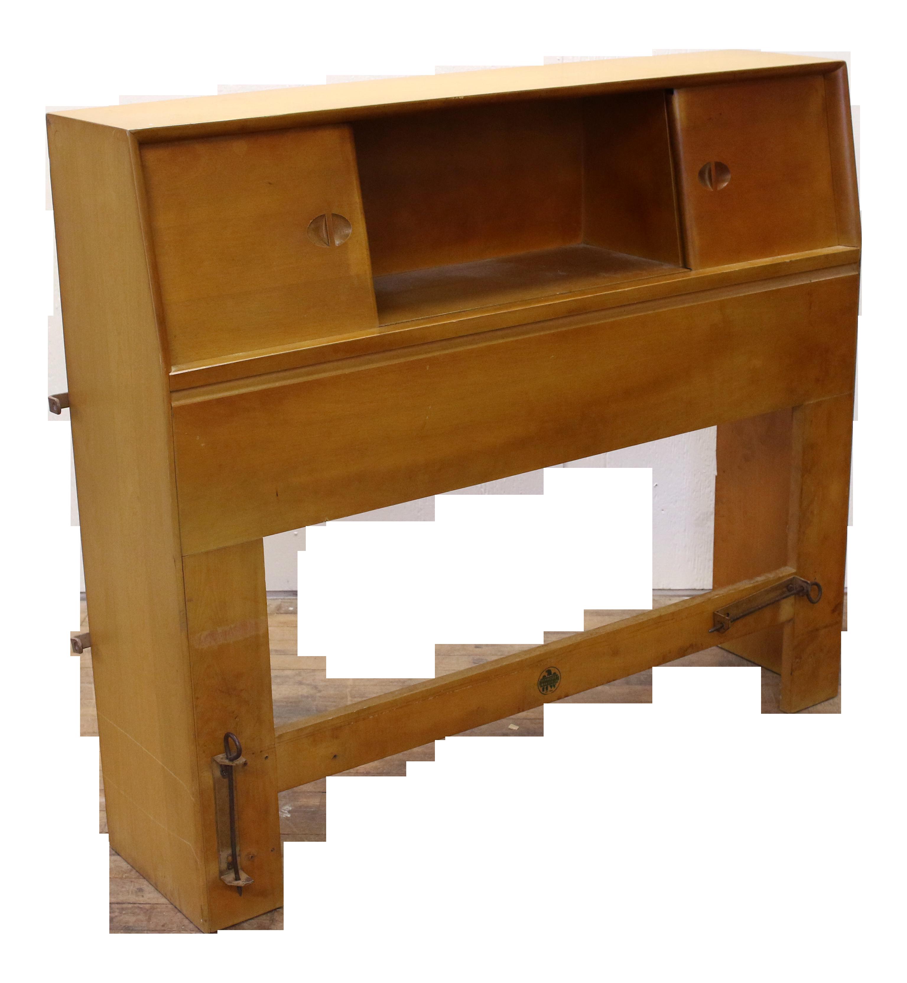 Image of: 1961 Mid Century Modern Heywood Wakefield Twin Bed Bookshelf Headboard Chairish