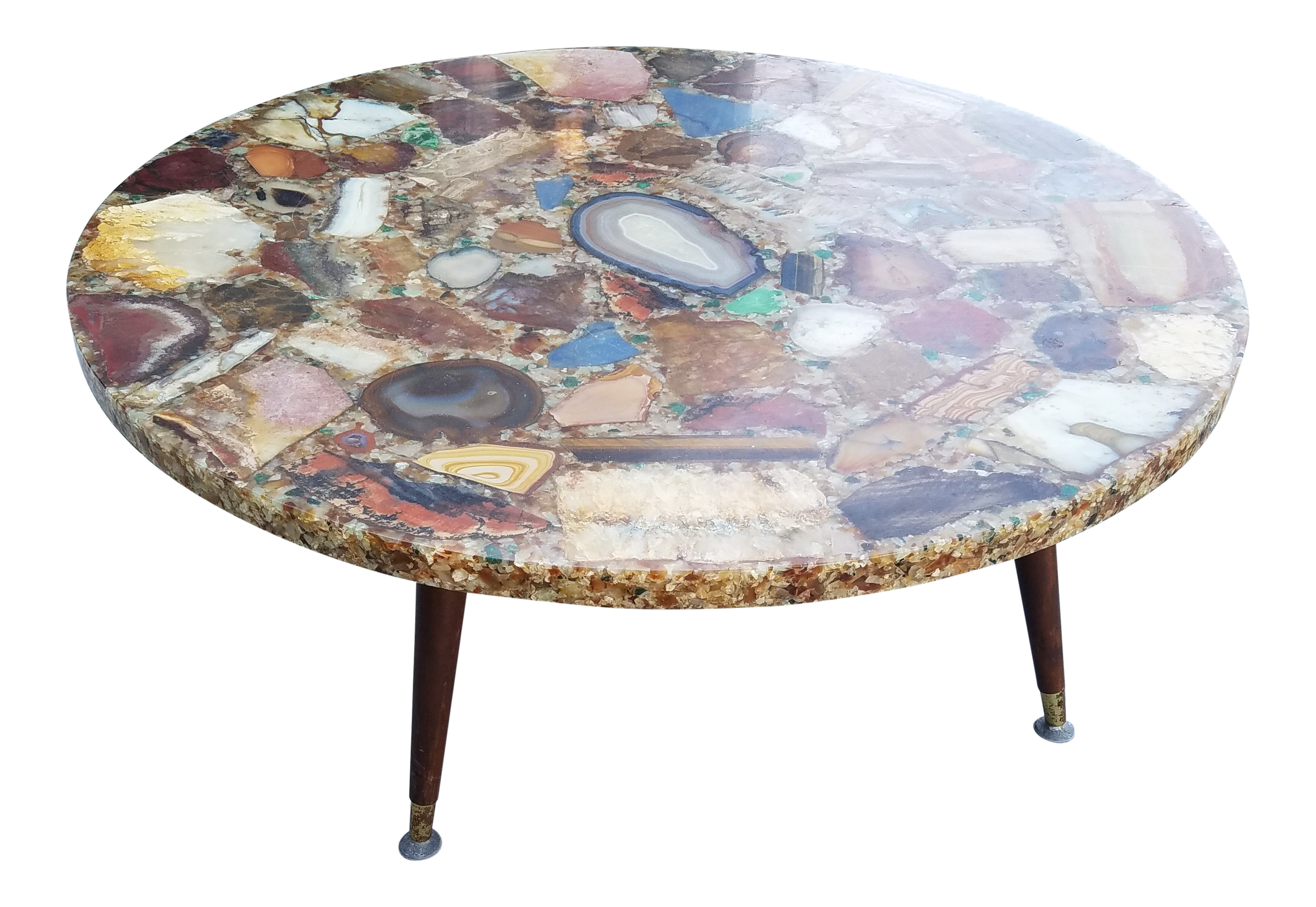 Picture of: Geode Agate Quartz Resin Coffee Table Chairish