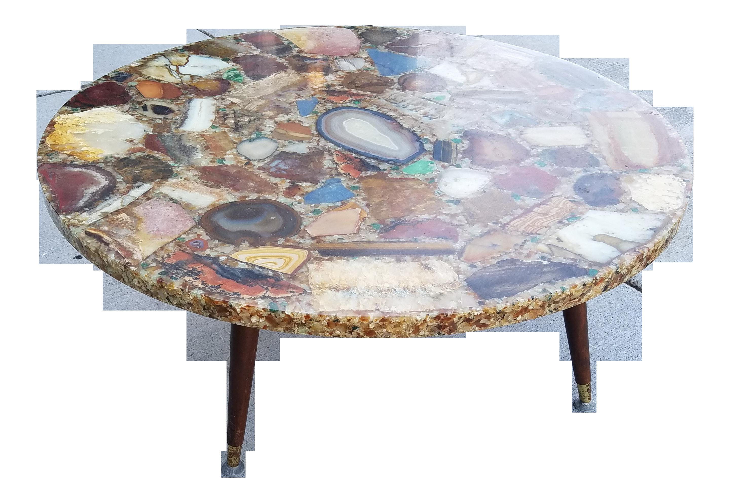 Geode Agate Quartz Resin Coffee Table Chairish