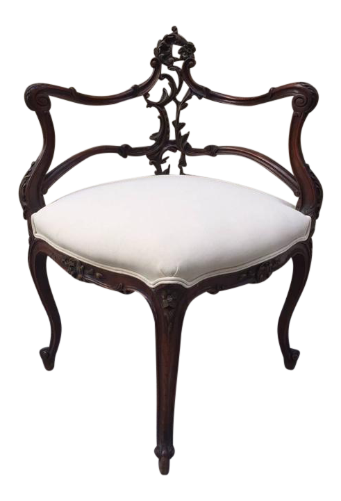 - High-End French Antique Corner Chair DECASO