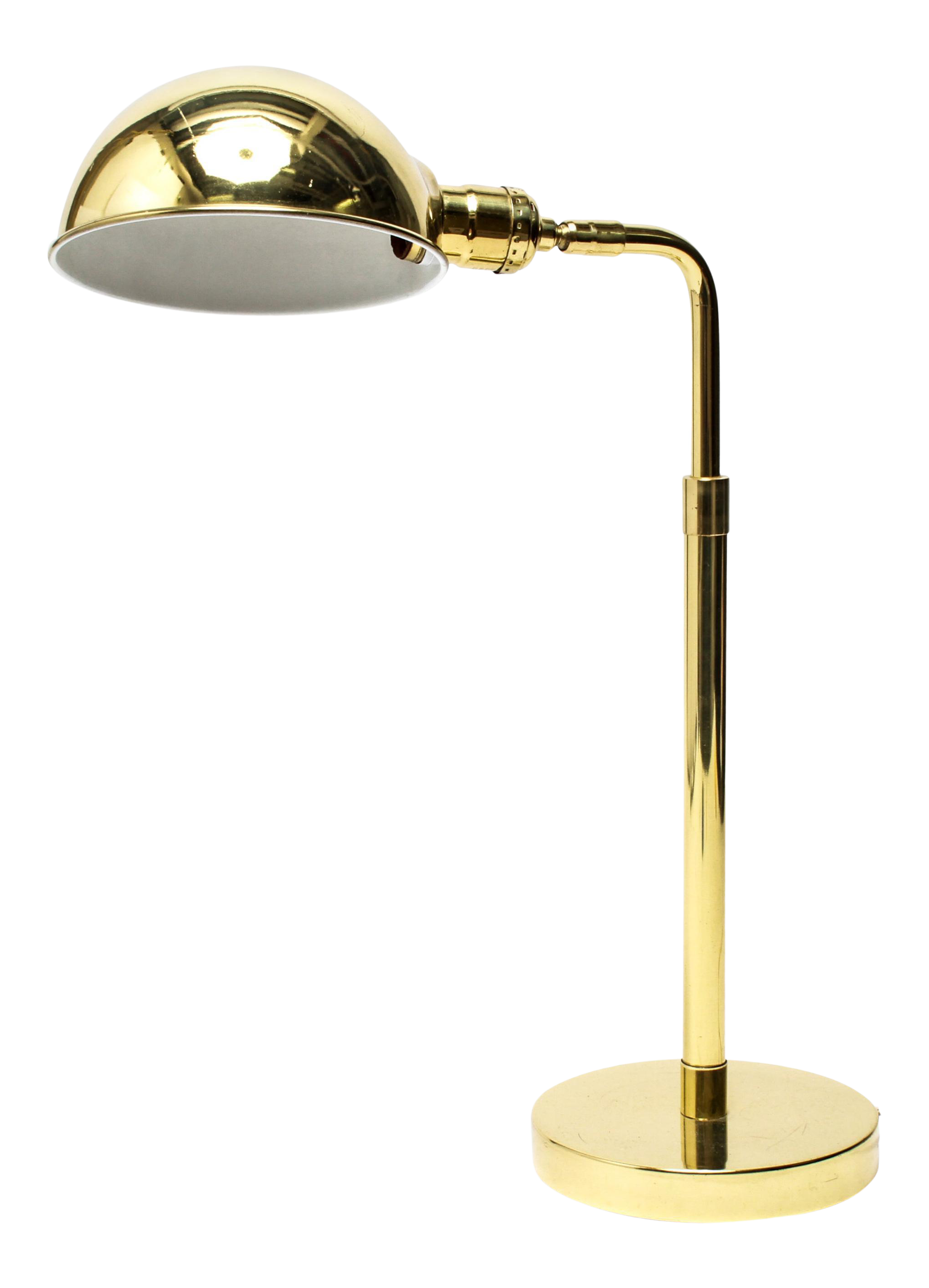 Mid Century Modern Brass Table Or Desk Lamp With Dome Shade Chairish