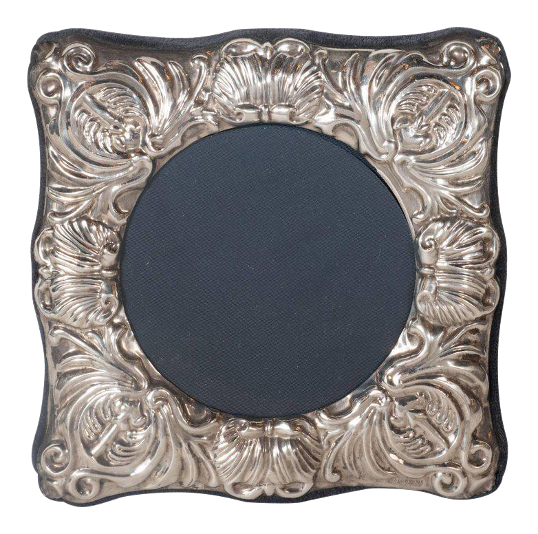Lovely 19th Century British Sterling Silver Picture Frame with ...
