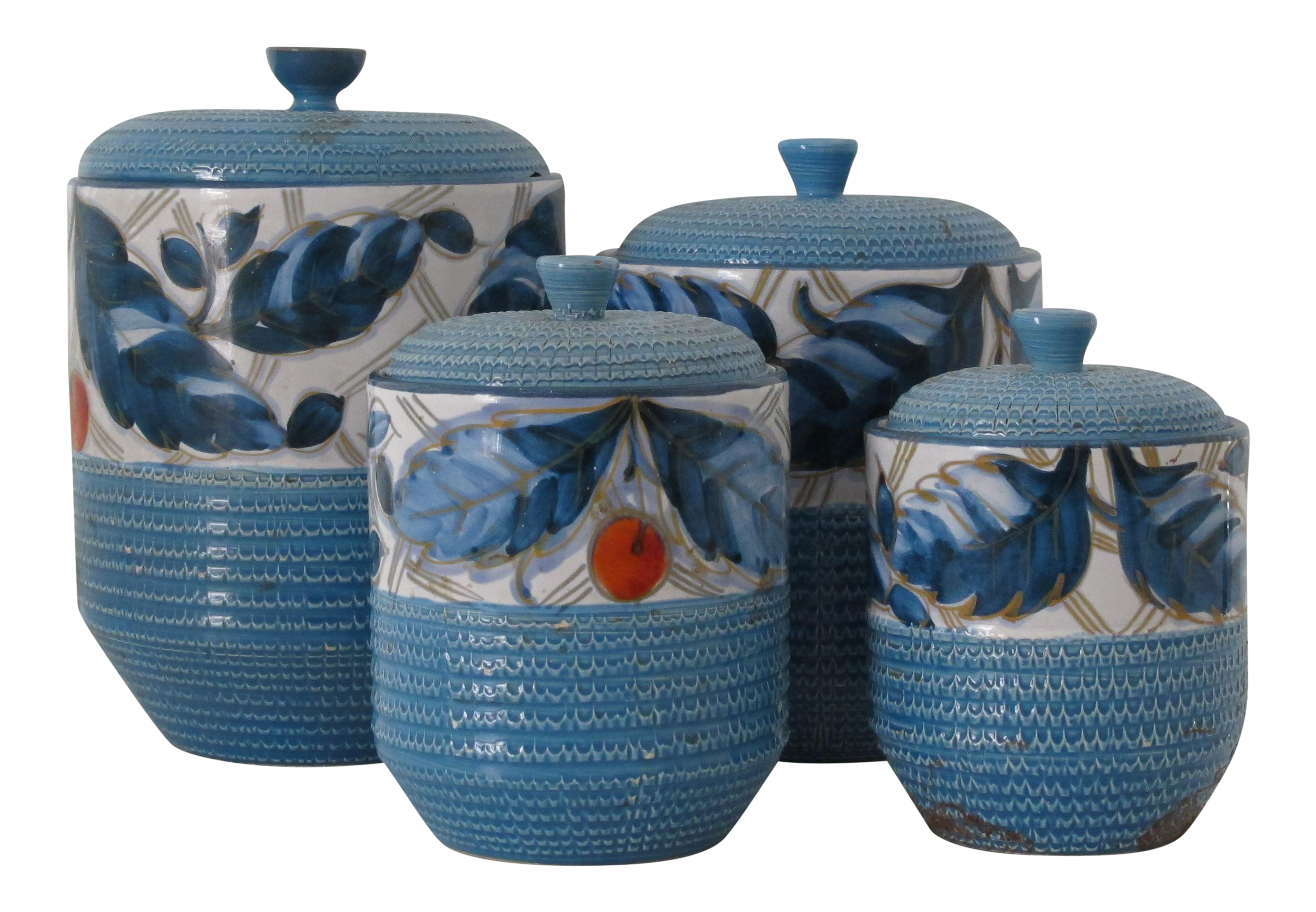 Bitossi Italian Kitchen Canisters - Set of 4 | Chairish