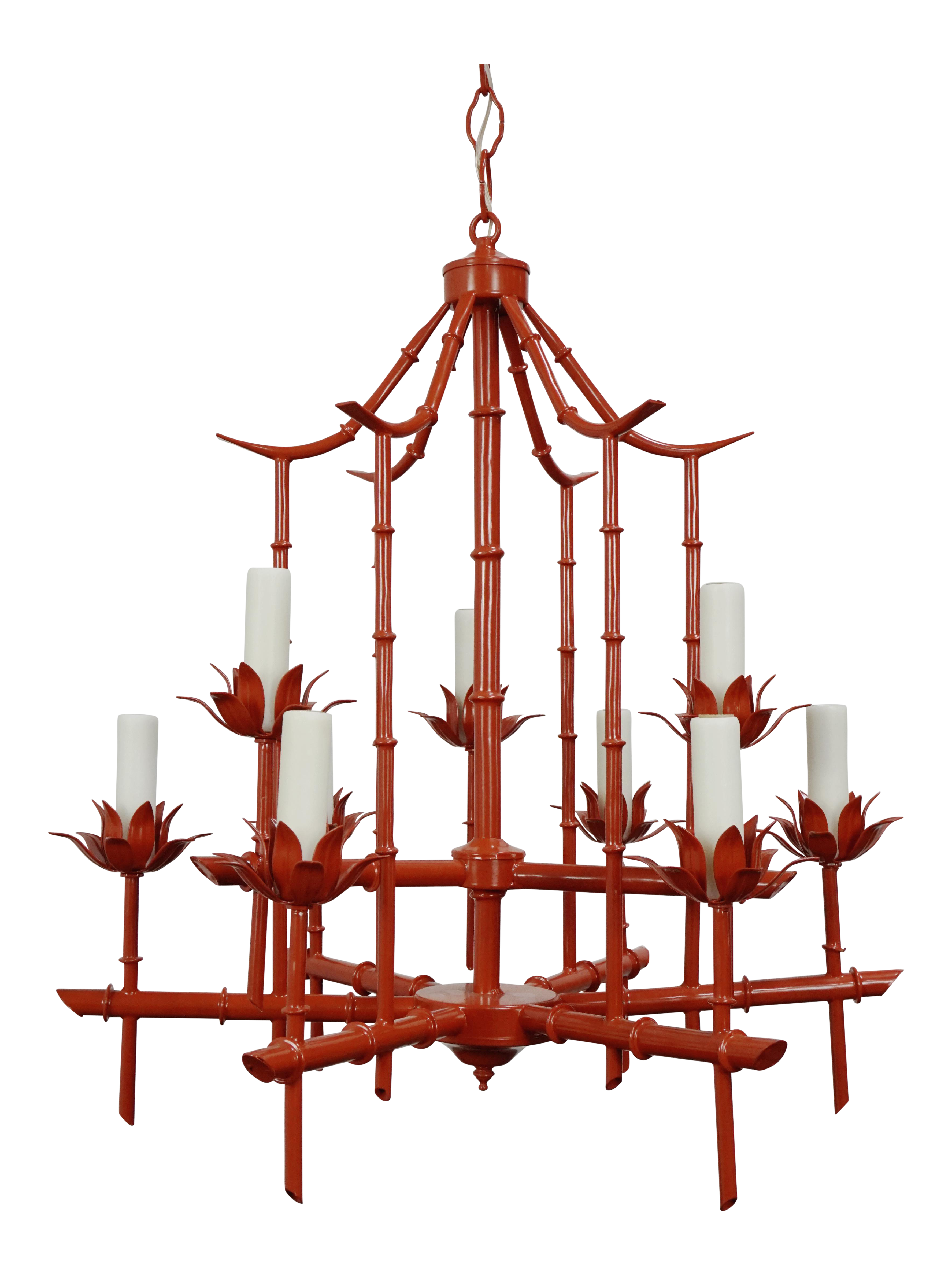 incredible faux decaso chandelier product pagoda bamboo