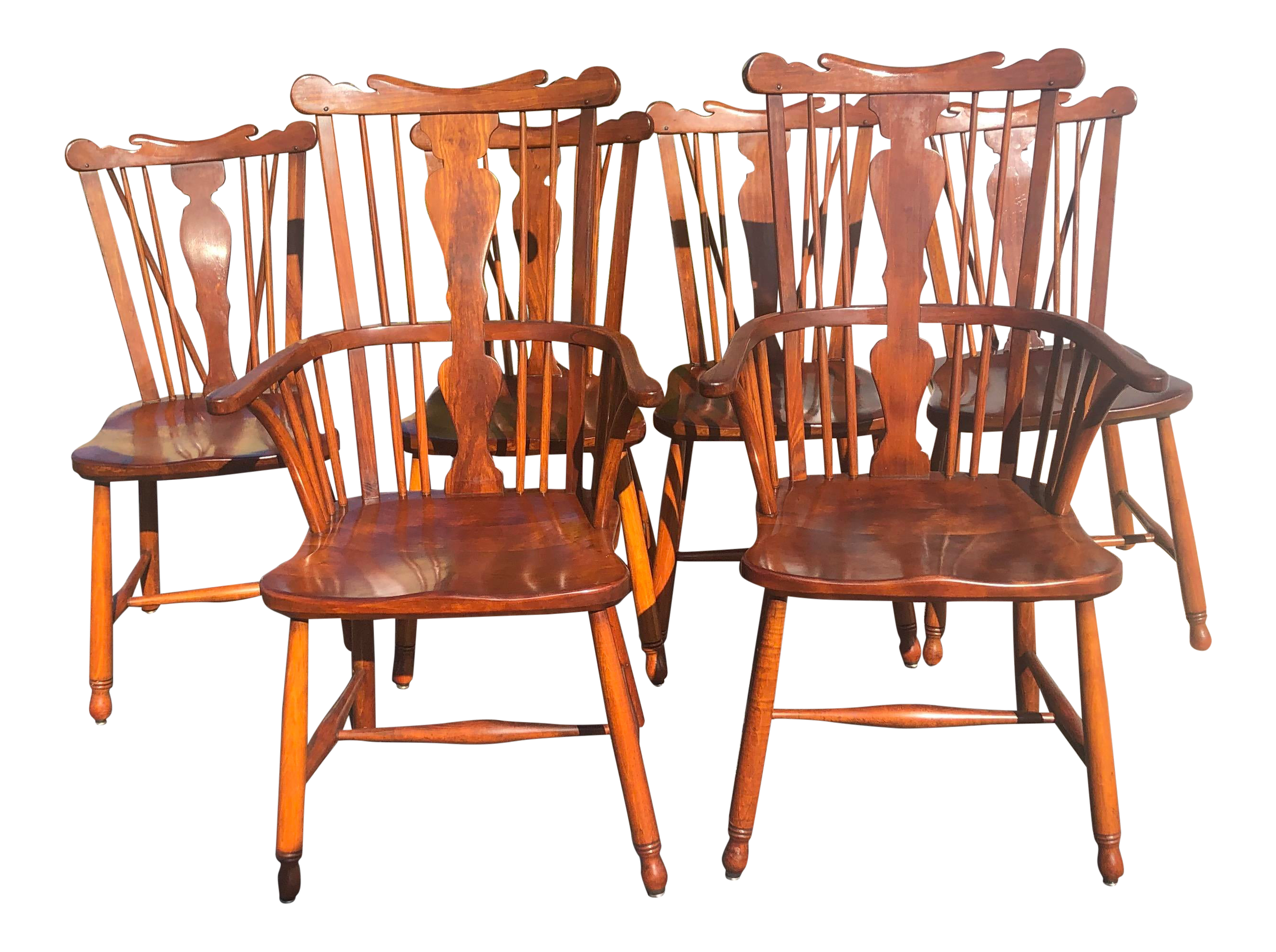 1950s Vintage L.& j.g. StickLey Dining Room Chairs - Set of 6