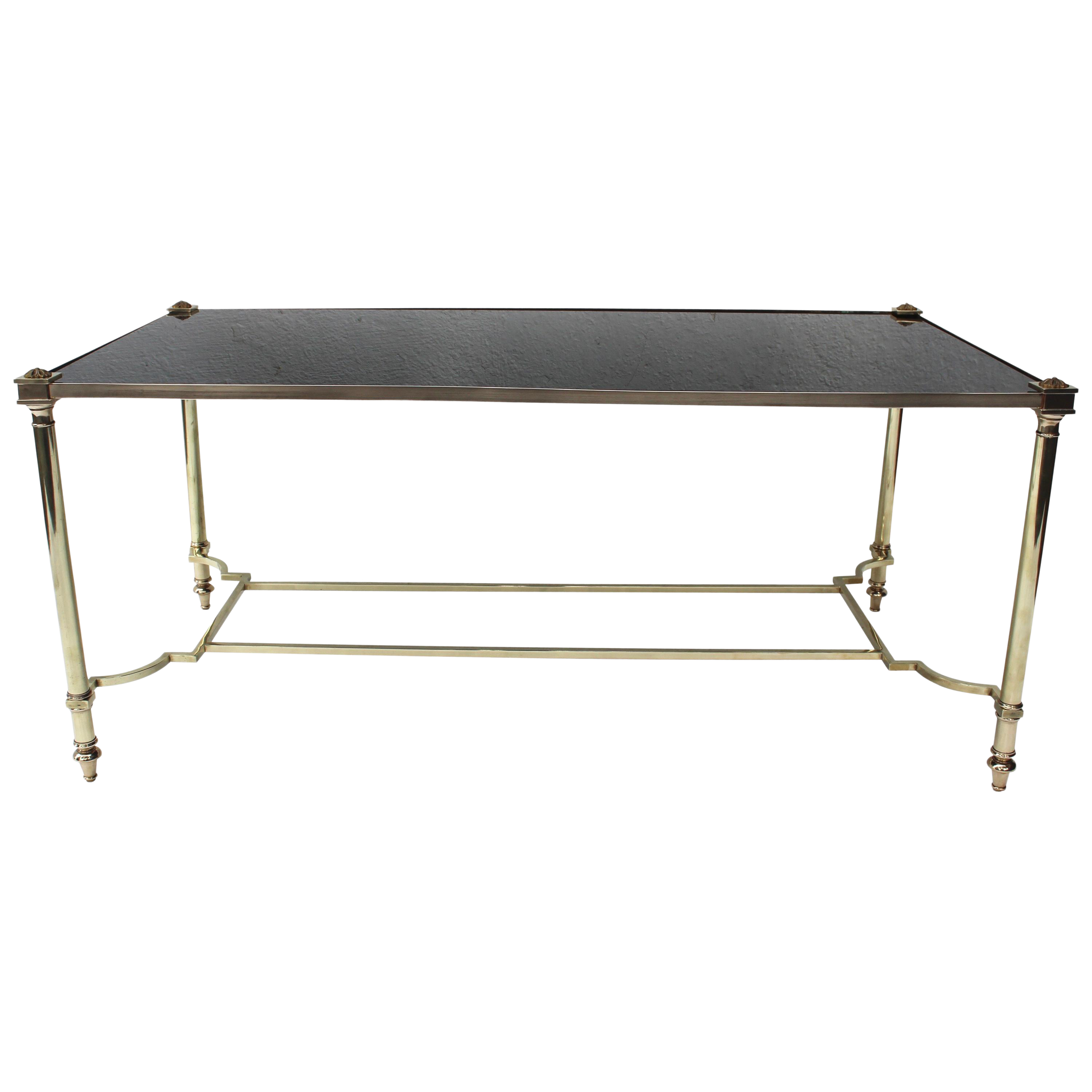 Bronze And Glass Coffee Table By Maison Jansen Chairish
