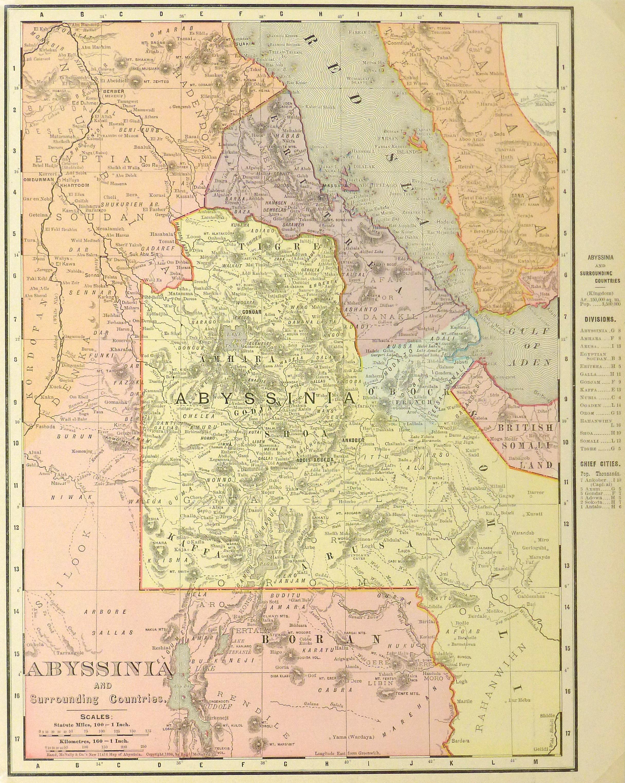 Antique Map of Ethiopia 1895 on kingdom of rwanda map, kingdom of madagascar map, kingdom of albania map, kingdom of bhutan map, kingdom of jordan map, kingdom of norway map, kingdom of edom map, kingdom of two sicilies map, kingdom of ghana map, kingdom of congo map, kingdom of benin map, kingdom of armenia map, kingdom of russia map, kingdom of axum map, kingdom of sheba map, kingdom of cyprus map, kingdom of dahomey map, kingdom of mali map, kingdom of egypt map, kingdom of germany map,