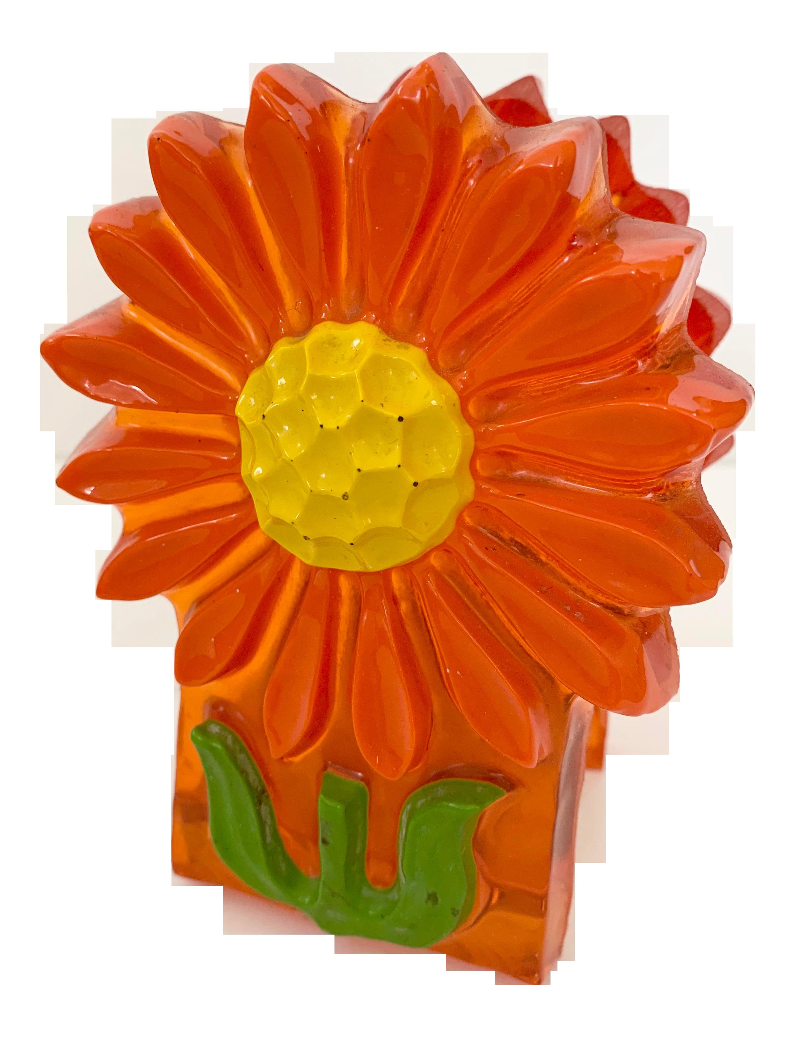 Vintage Resin Flower Napkin Holder Chairish