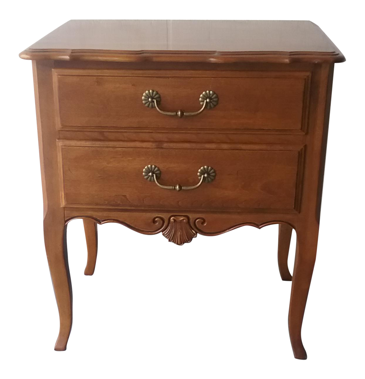 Ethan allen french country nightstand chairish for Ethan allen country french bedroom
