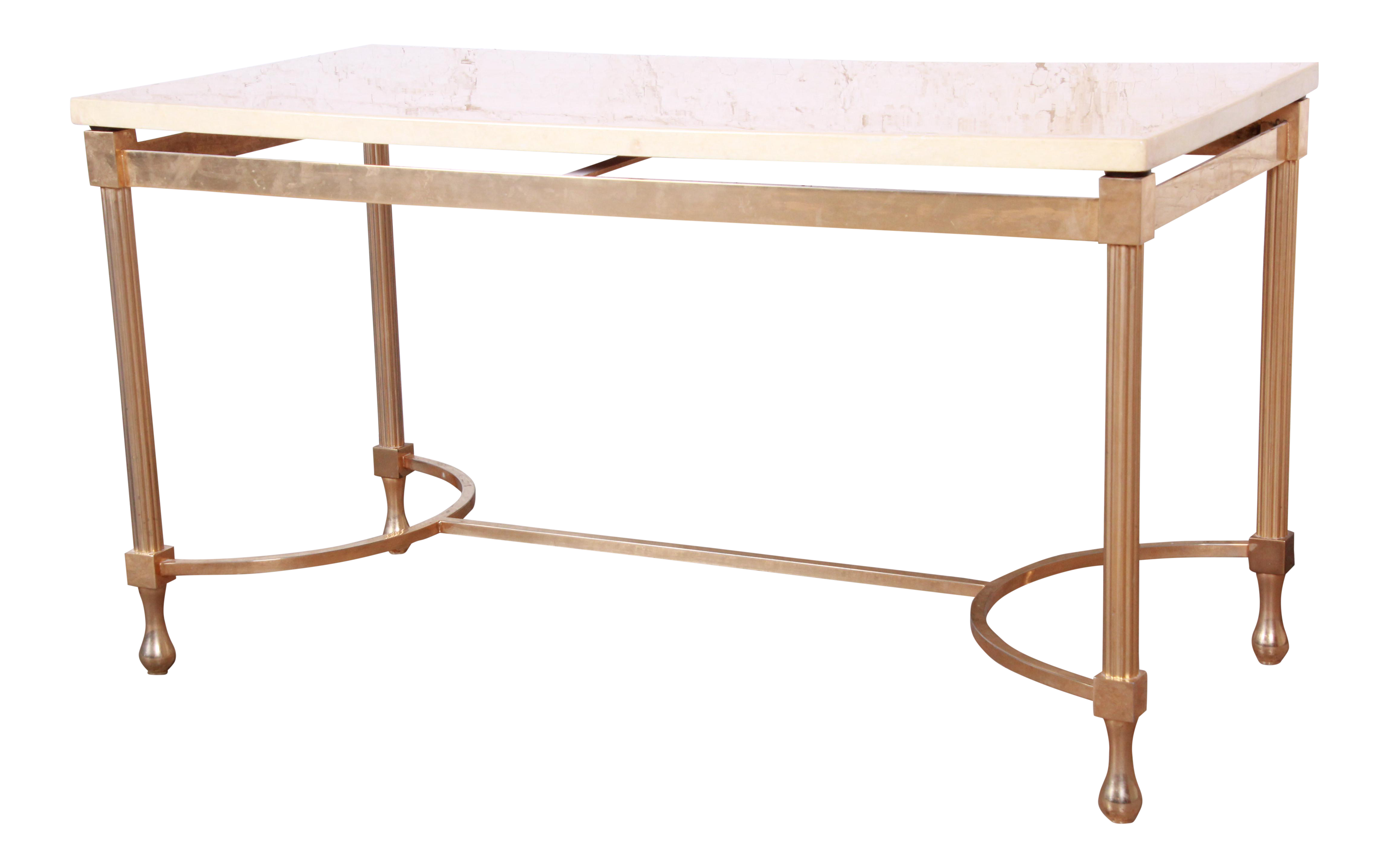 Aldo Tura Italian Modern Faux Marble And Gilded Brass Cocktail Table 1960s Chairish