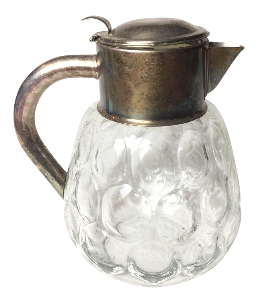 1960s vintage hand blown glass pitcher chairish for Kitchen cabinet trends 2018 combined with hand blown glass wall art
