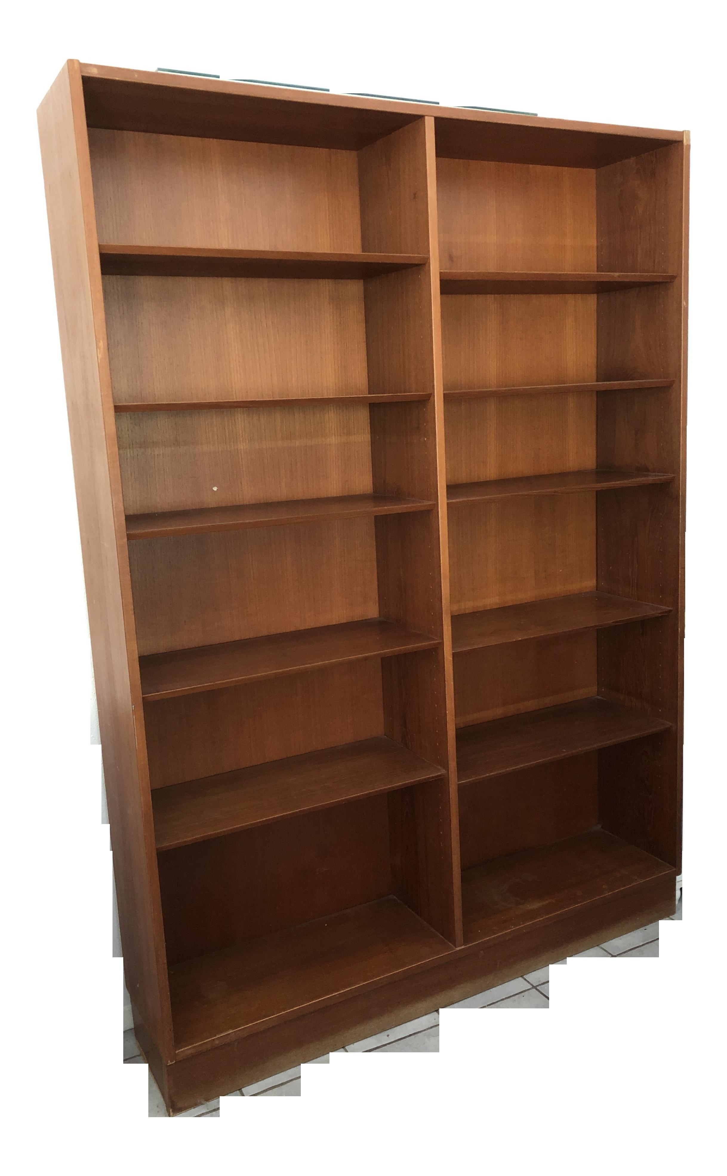 1960 S Mid Century Danish Teak Bookcases A Pair