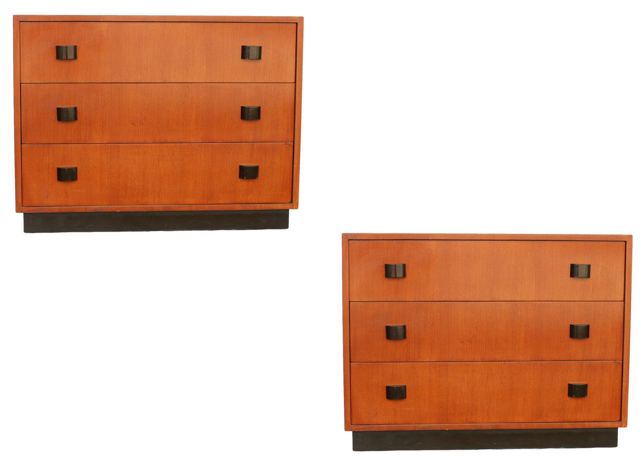 Art Moderne Low Boy Dresser Set by Gilbert Rohde   Chairish