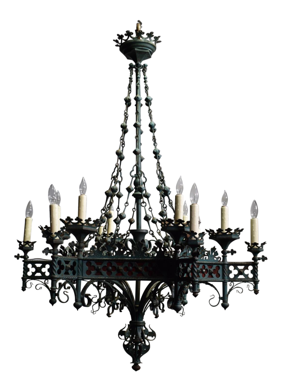 Antique chandelier, Gothic Revival period - Antique & Designer Gothic Chandeliers DECASO
