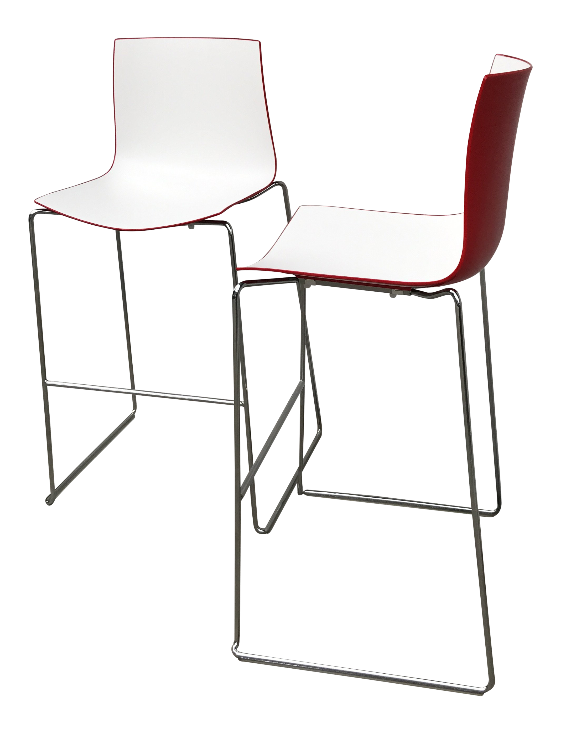 Astounding Contemporary Modern Arper Catifa 46 Bar Stools A Pair Caraccident5 Cool Chair Designs And Ideas Caraccident5Info