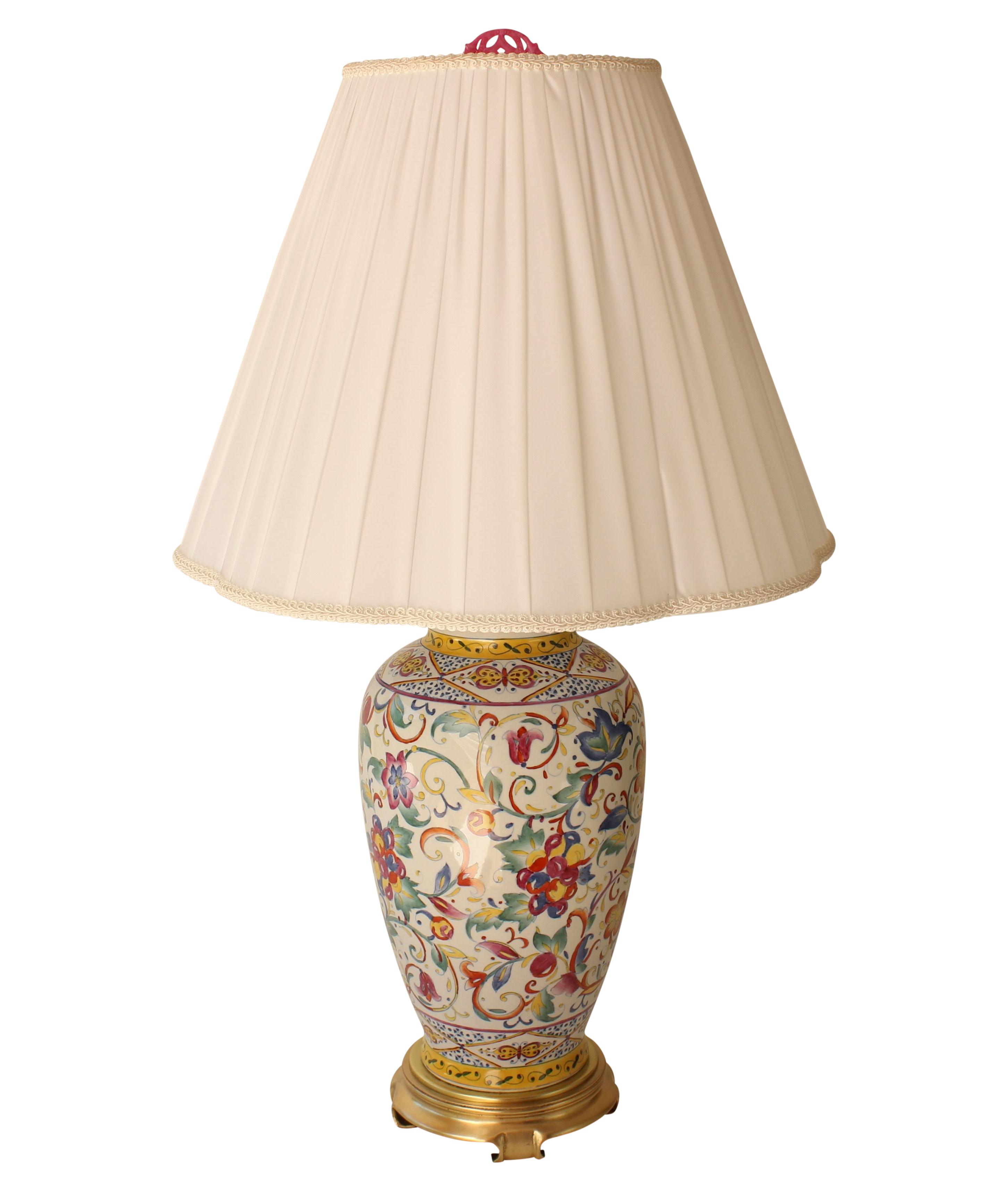 Frederick cooper floral table lamp chairish mozeypictures Gallery
