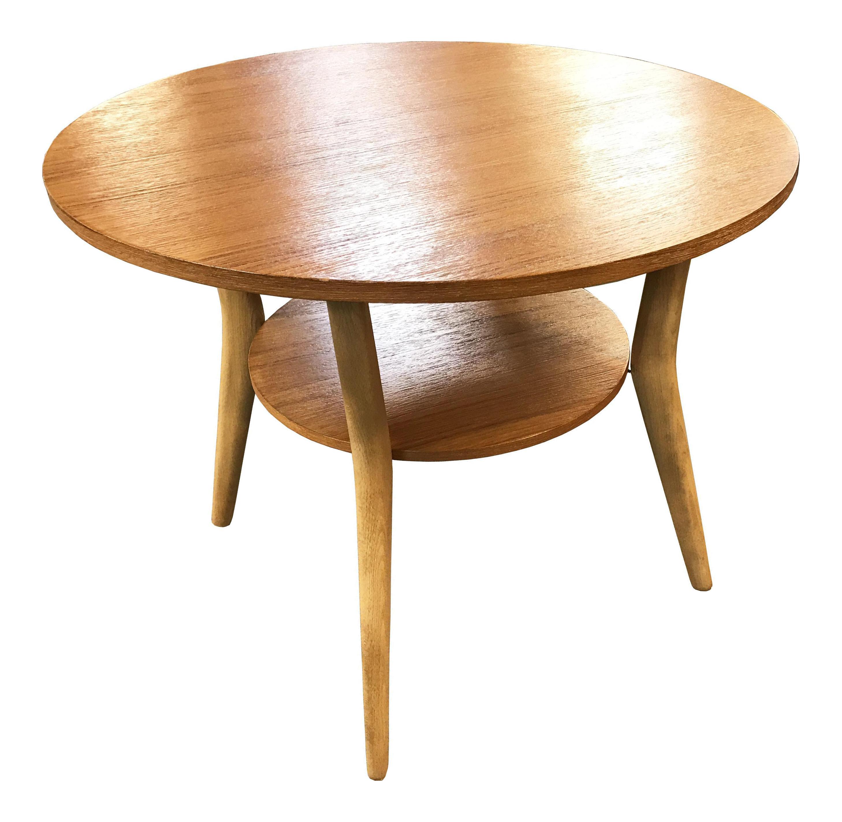 Vintage Mid-Century Danish Round Coffee Table Chairish