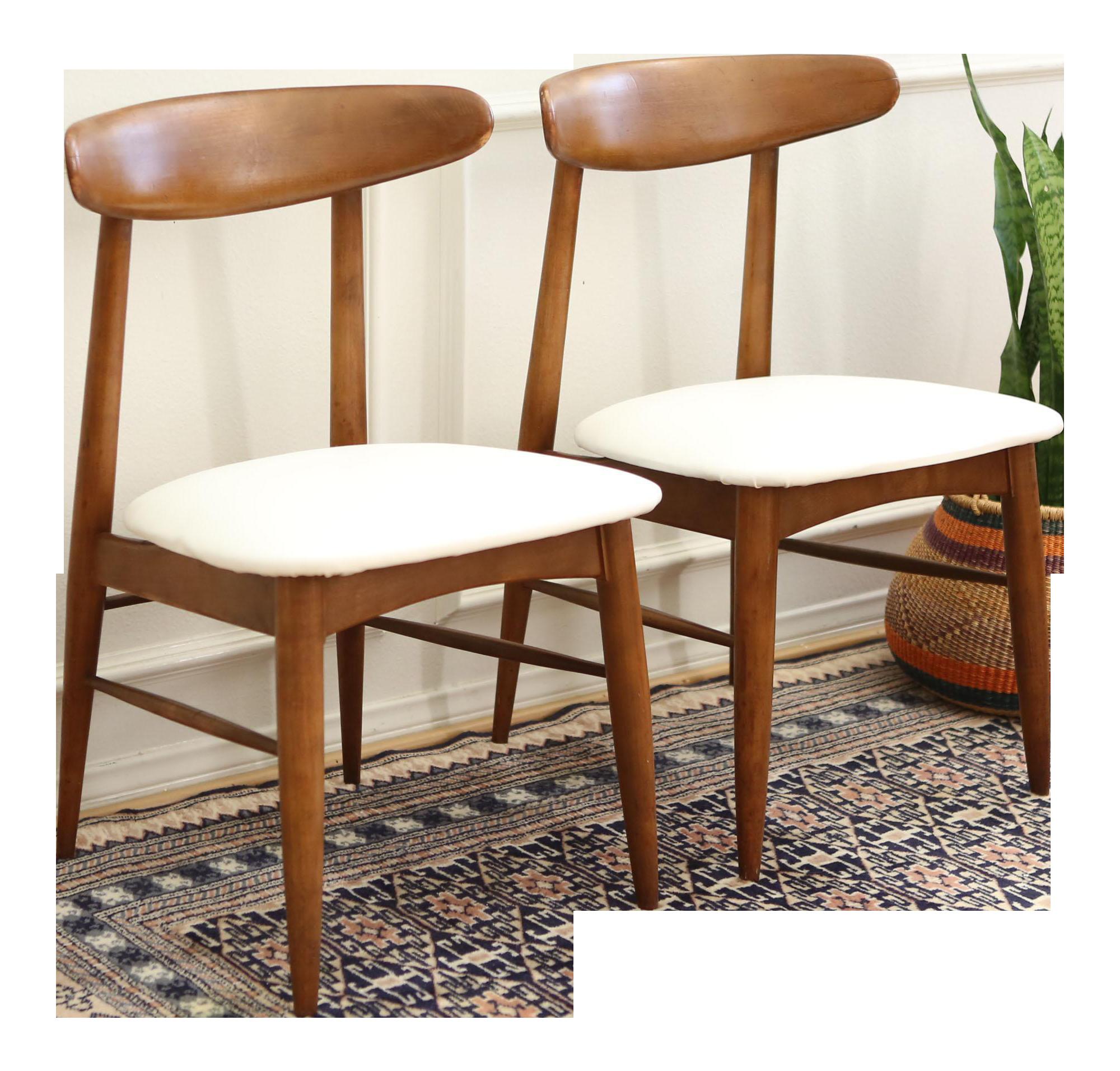 Vintage Mid Century Modern Scandia Danish Teak Chair Pair Chairish