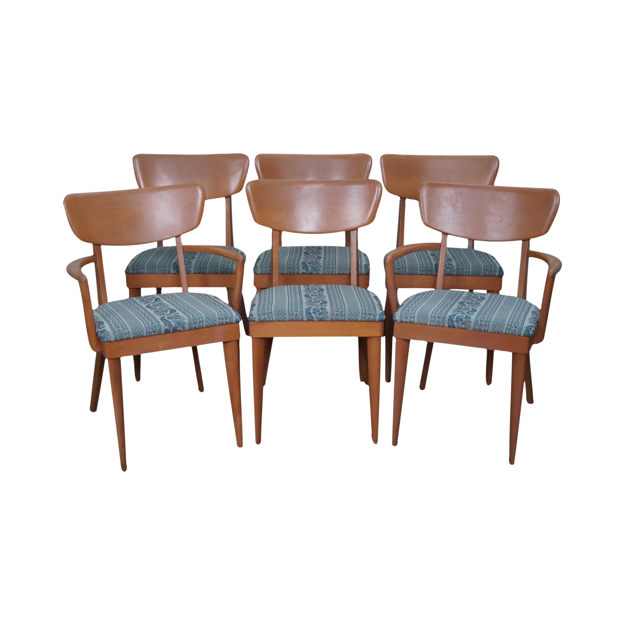 Heywood Wakefield Mid Century Dining Chairs Set Of 6