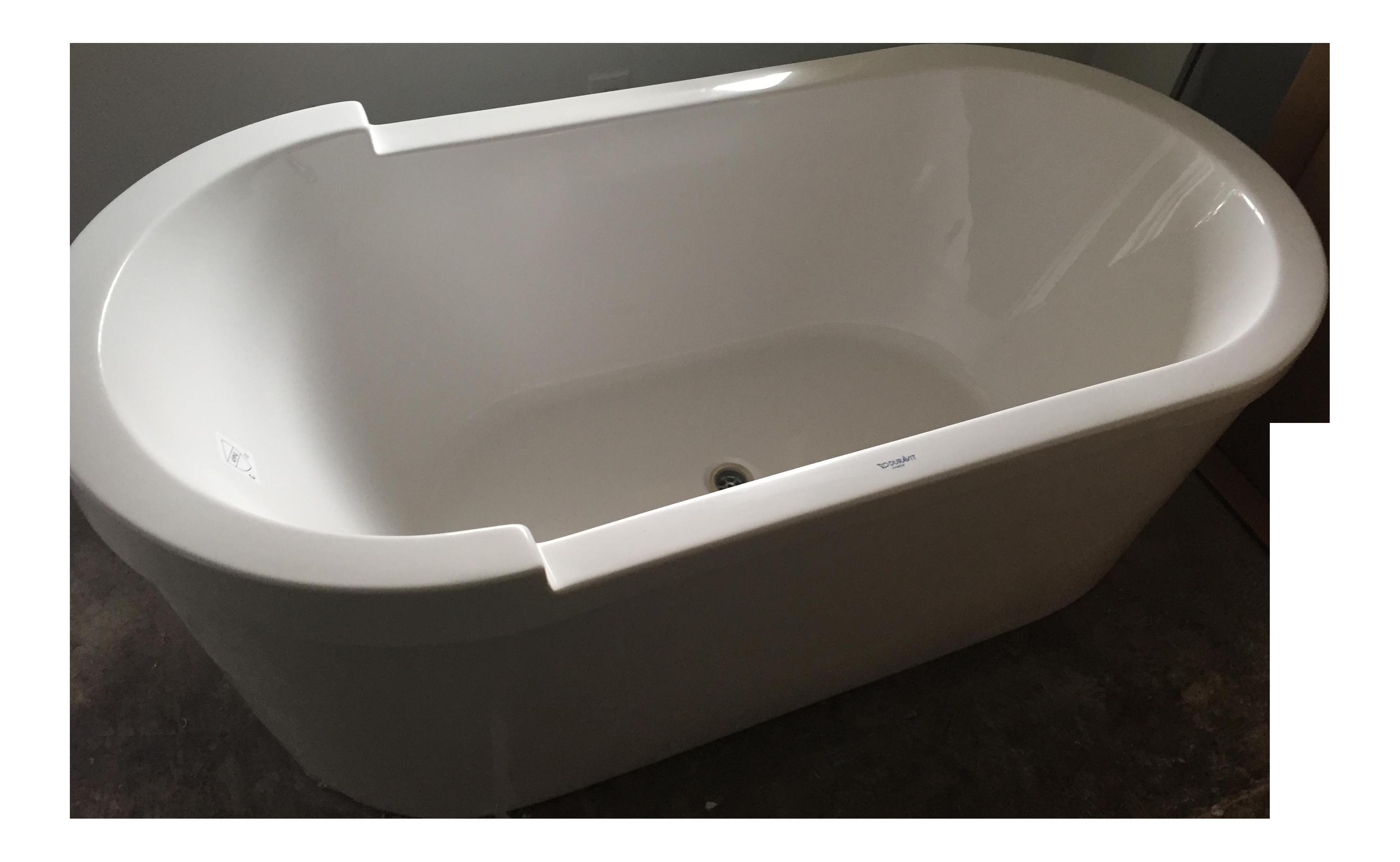 Philippe Starck Duravit Oval Tub With Drain   Chairish