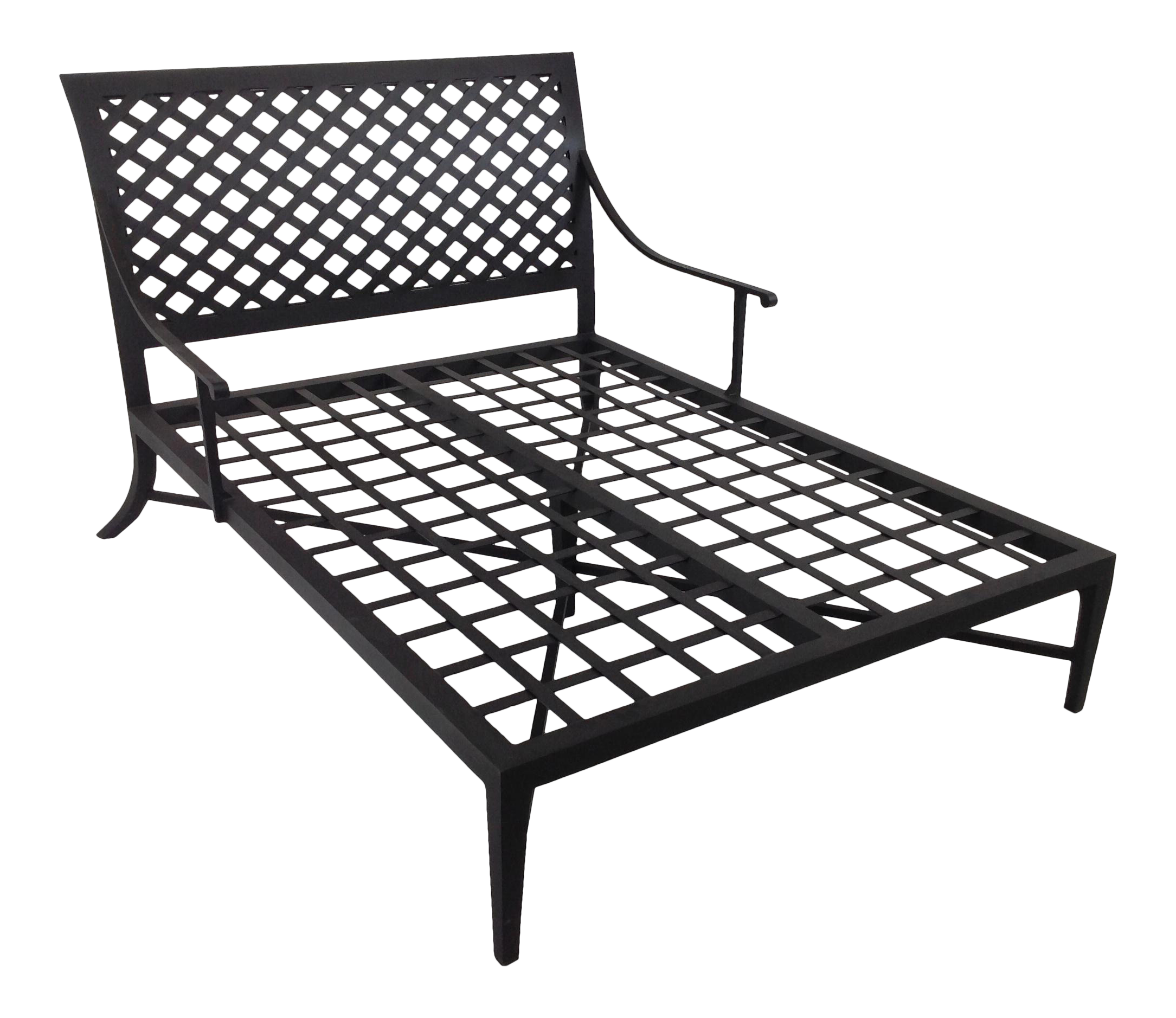 Modern Patio Double Chaise Lounge Chairish