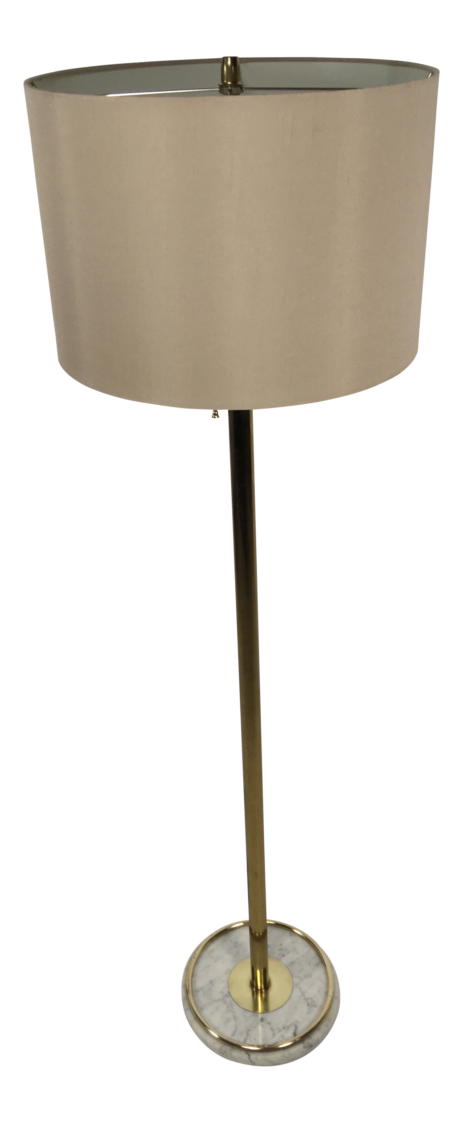 Mid Century Brass And Marble Floor Lamp